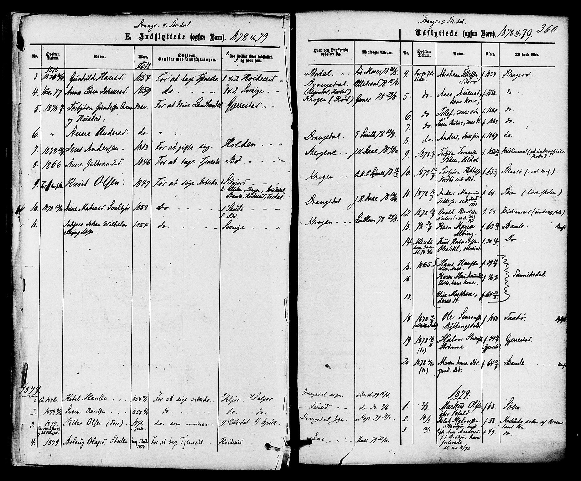 SAKO, Drangedal kirkebøker, F/Fa/L0009: Ministerialbok nr. 9 /1, 1872-1884, s. 360