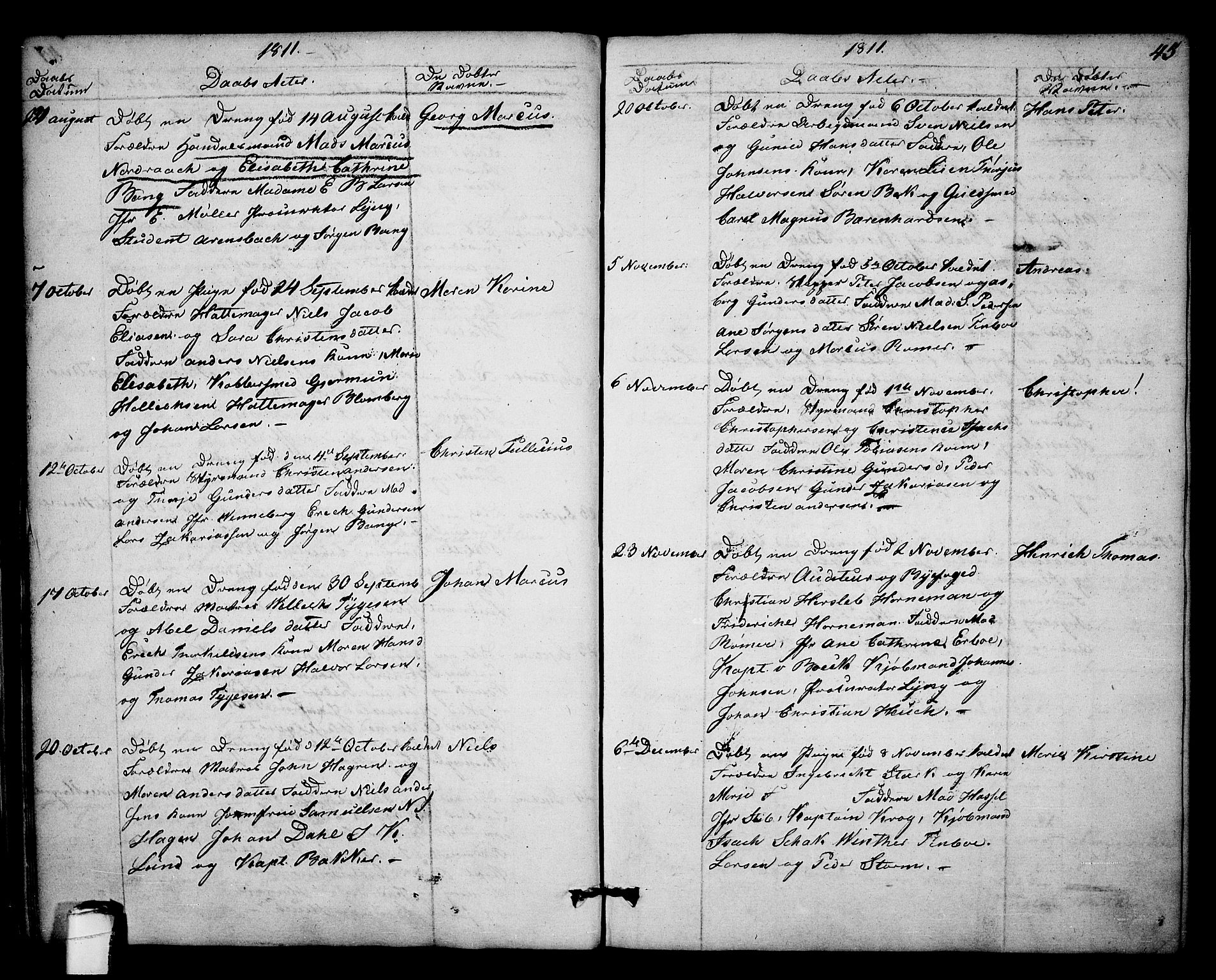 SAKO, Kragerø kirkebøker, F/Fa/L0003: Ministerialbok nr. 3, 1802-1813, s. 45