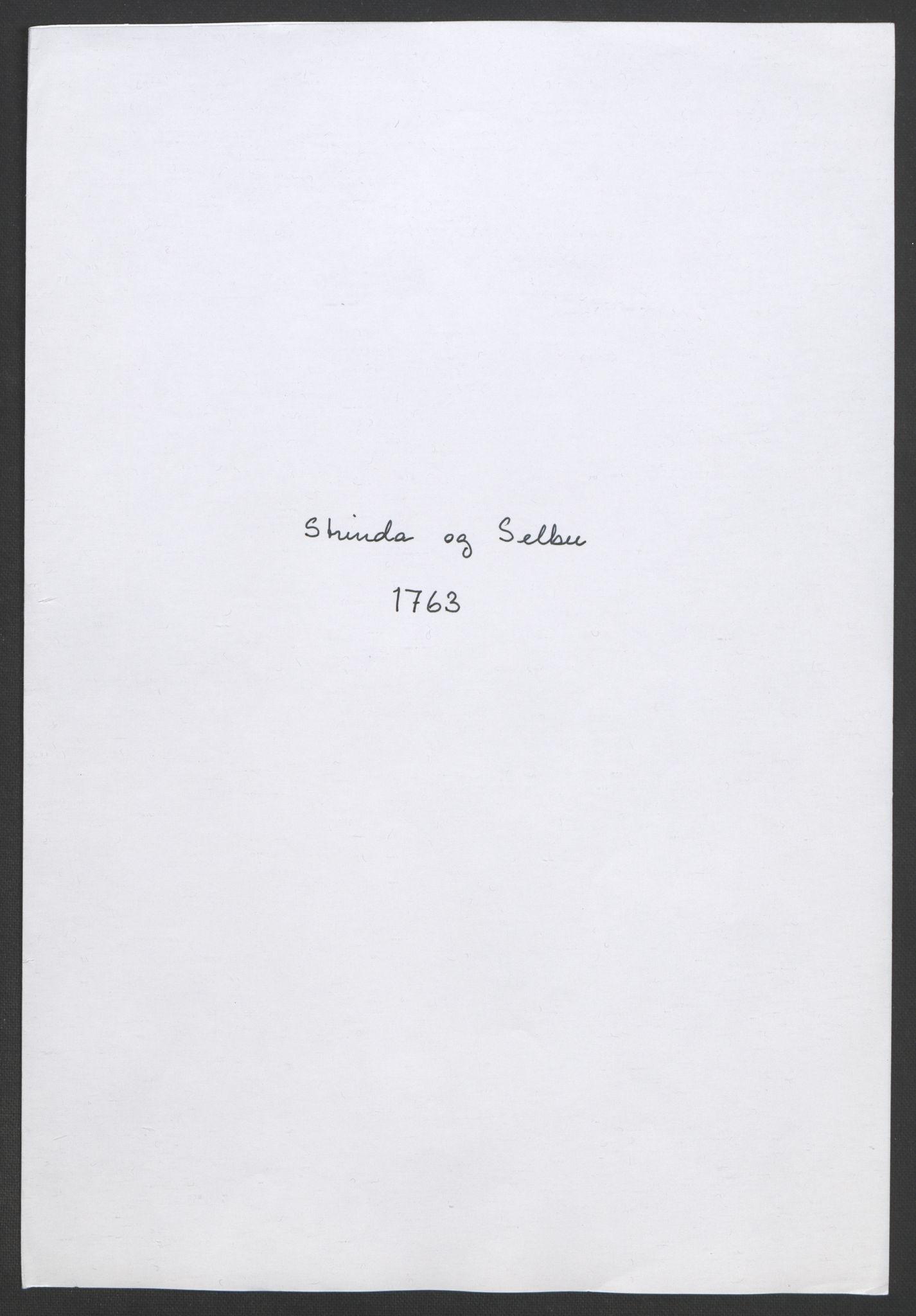 RA, Rentekammeret inntil 1814, Realistisk ordnet avdeling, Ol/L0020: [Gg 10]: Ekstraskatten, 23.09.1762. Romsdal, Strinda, Selbu, Inderøy., 1763, s. 170