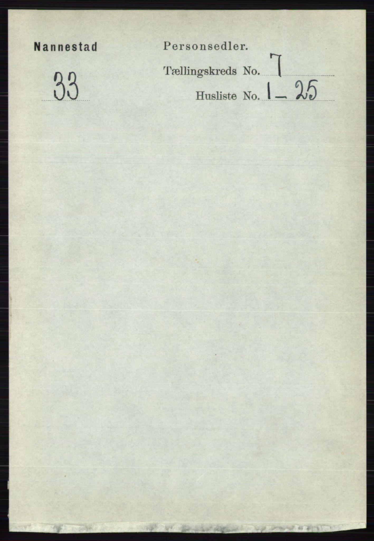 RA, Folketelling 1891 for 0238 Nannestad herred, 1891, s. 3740