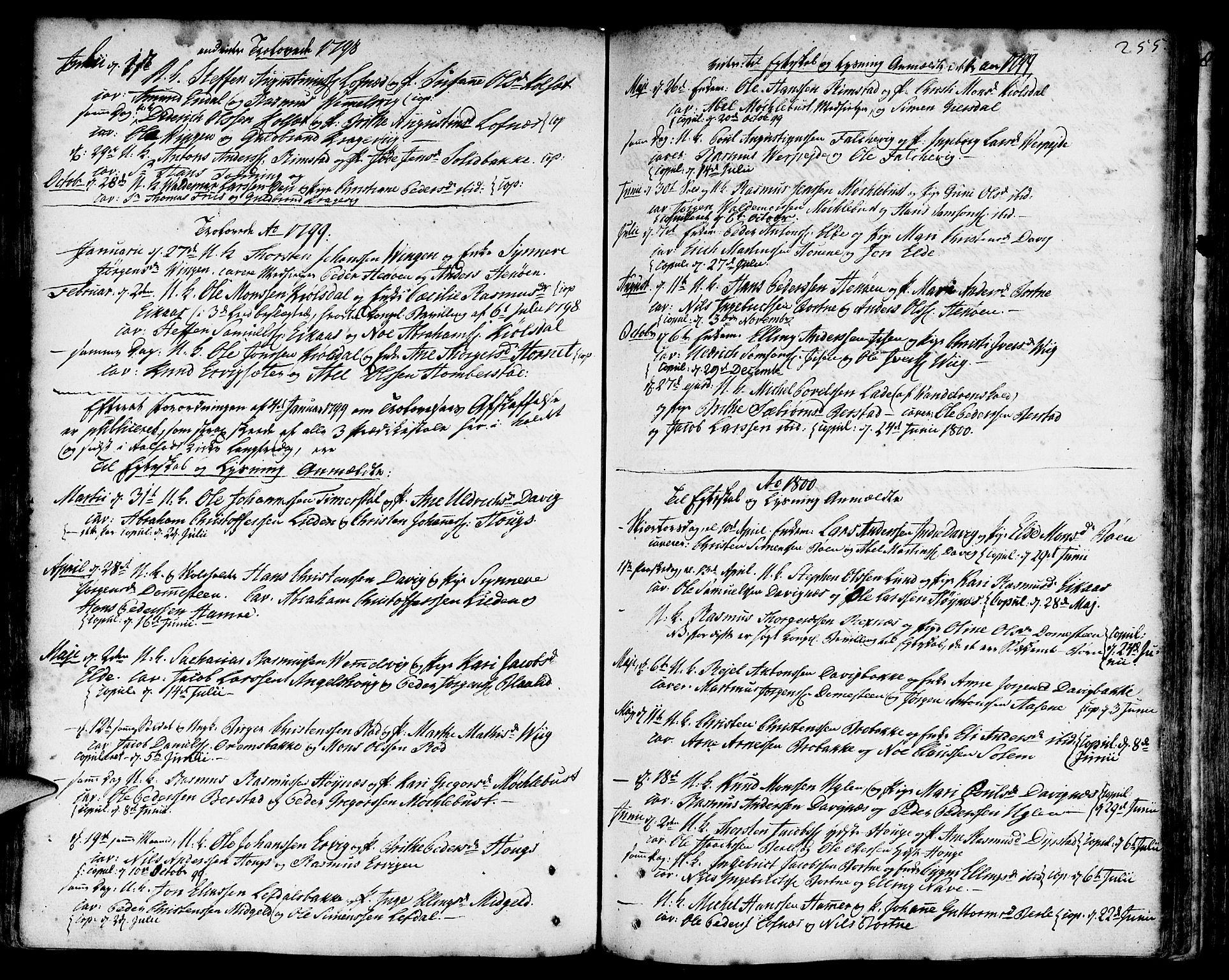SAB, Davik Sokneprestembete, Ministerialbok nr. A 2, 1742-1816, s. 255