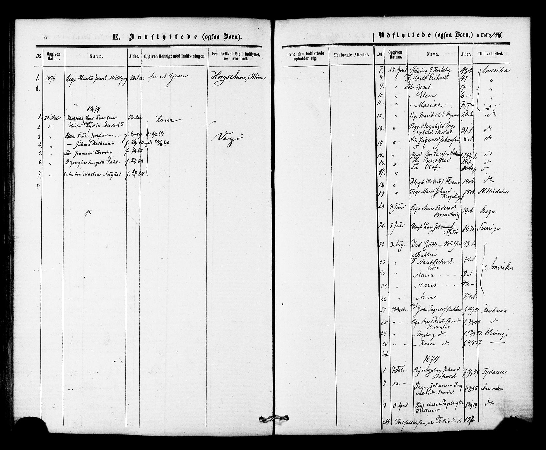 SAT, Ministerialprotokoller, klokkerbøker og fødselsregistre - Nord-Trøndelag, 706/L0041: Ministerialbok nr. 706A02, 1862-1877, s. 146