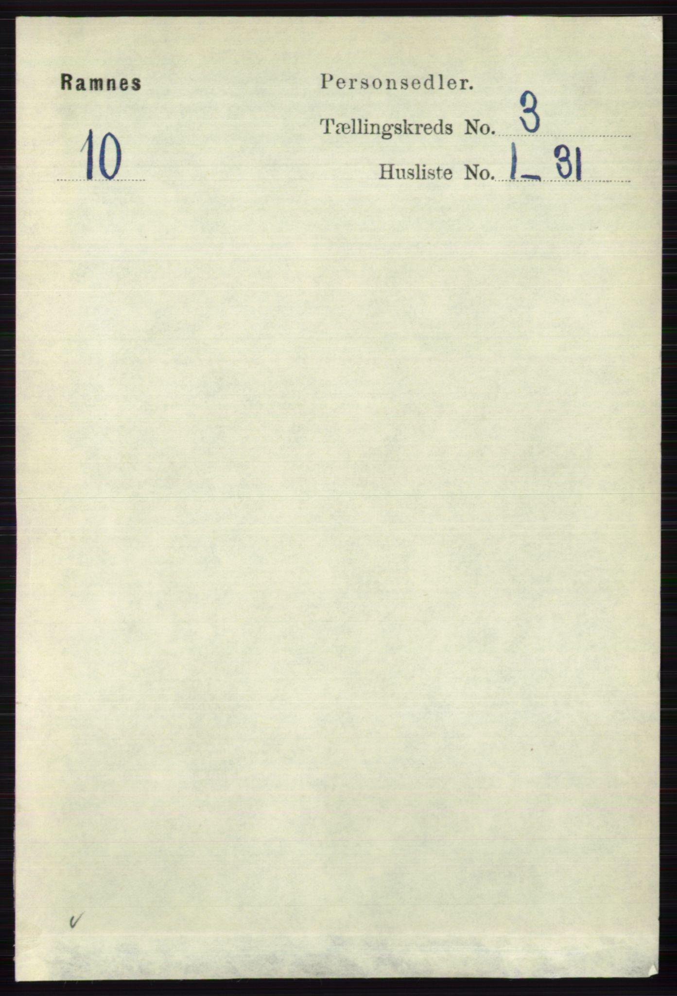 RA, Folketelling 1891 for 0718 Ramnes herred, 1891, s. 1300