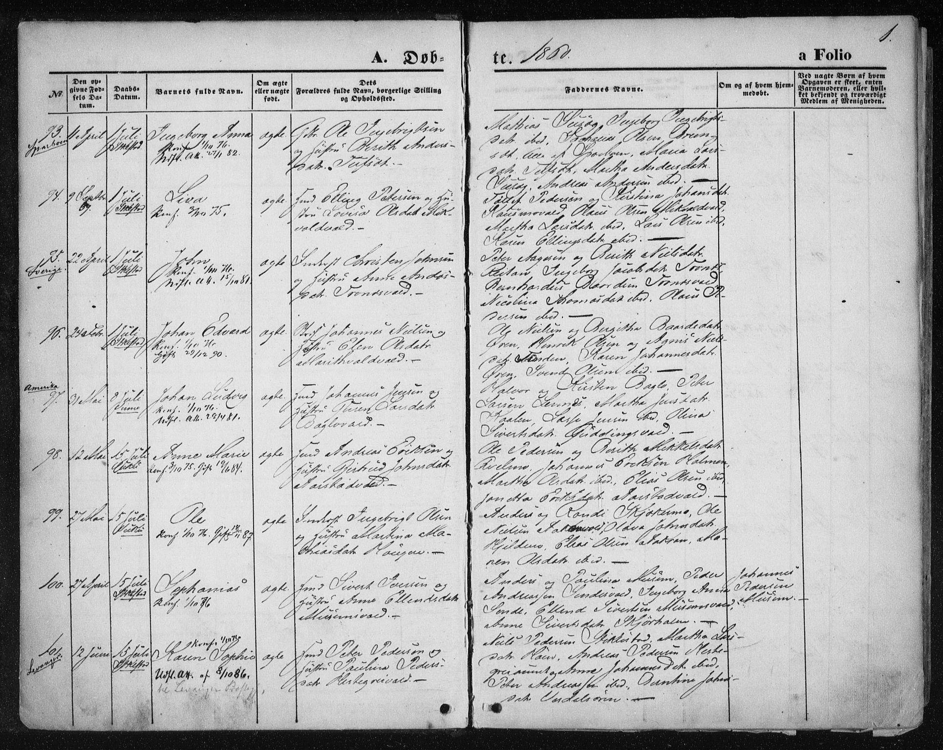 SAT, Ministerialprotokoller, klokkerbøker og fødselsregistre - Nord-Trøndelag, 723/L0241: Ministerialbok nr. 723A10, 1860-1869, s. 1