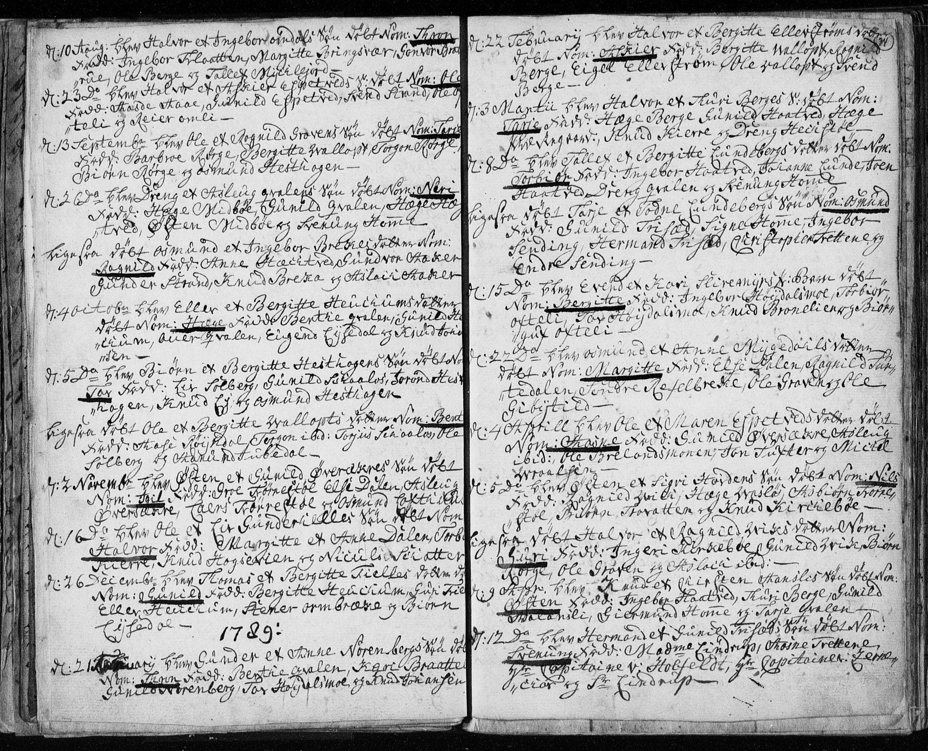 SAKO, Lårdal kirkebøker, F/Fa/L0003: Ministerialbok nr. I 3, 1754-1790, s. 34