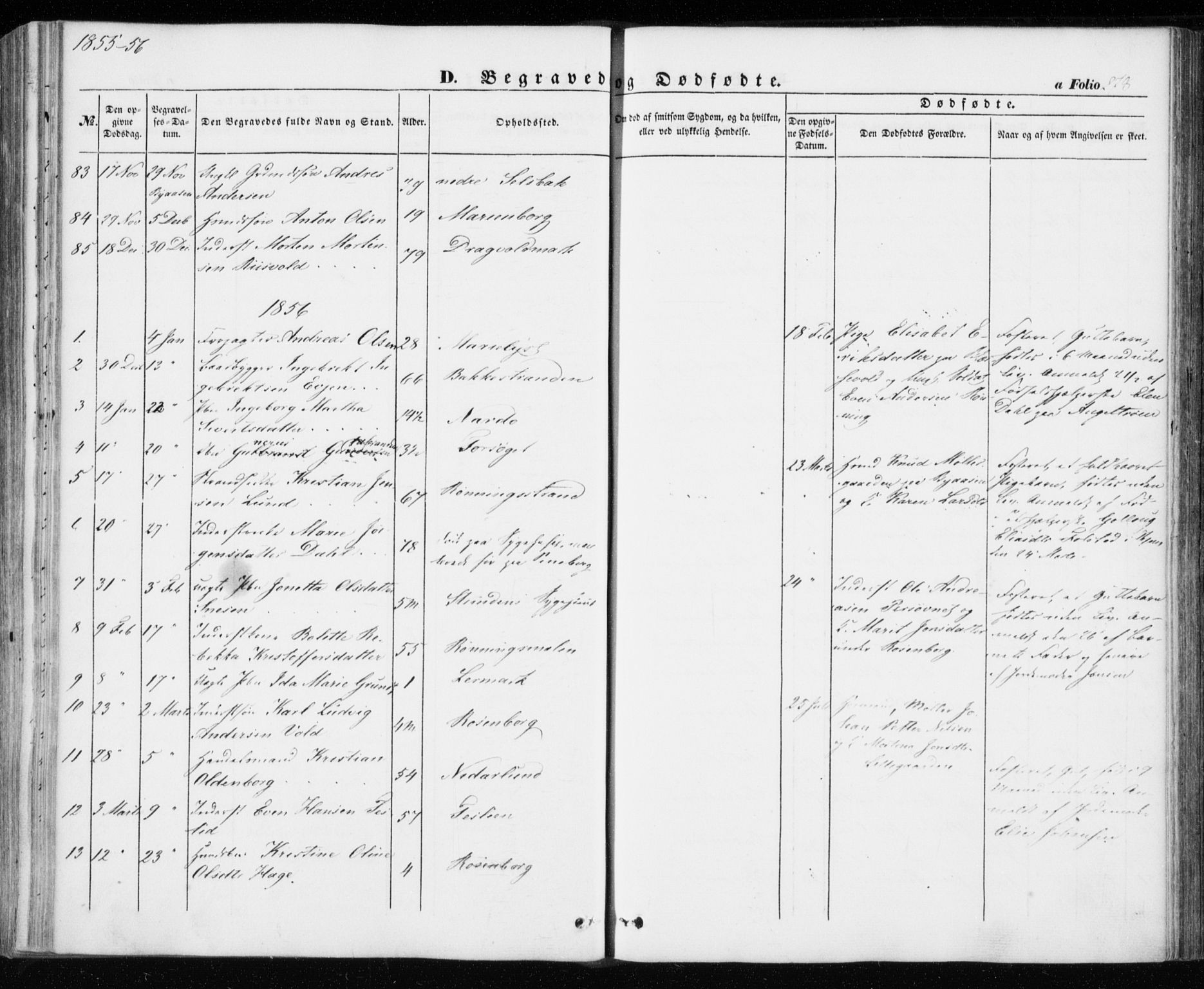 SAT, Ministerialprotokoller, klokkerbøker og fødselsregistre - Sør-Trøndelag, 606/L0291: Ministerialbok nr. 606A06, 1848-1856, s. 278