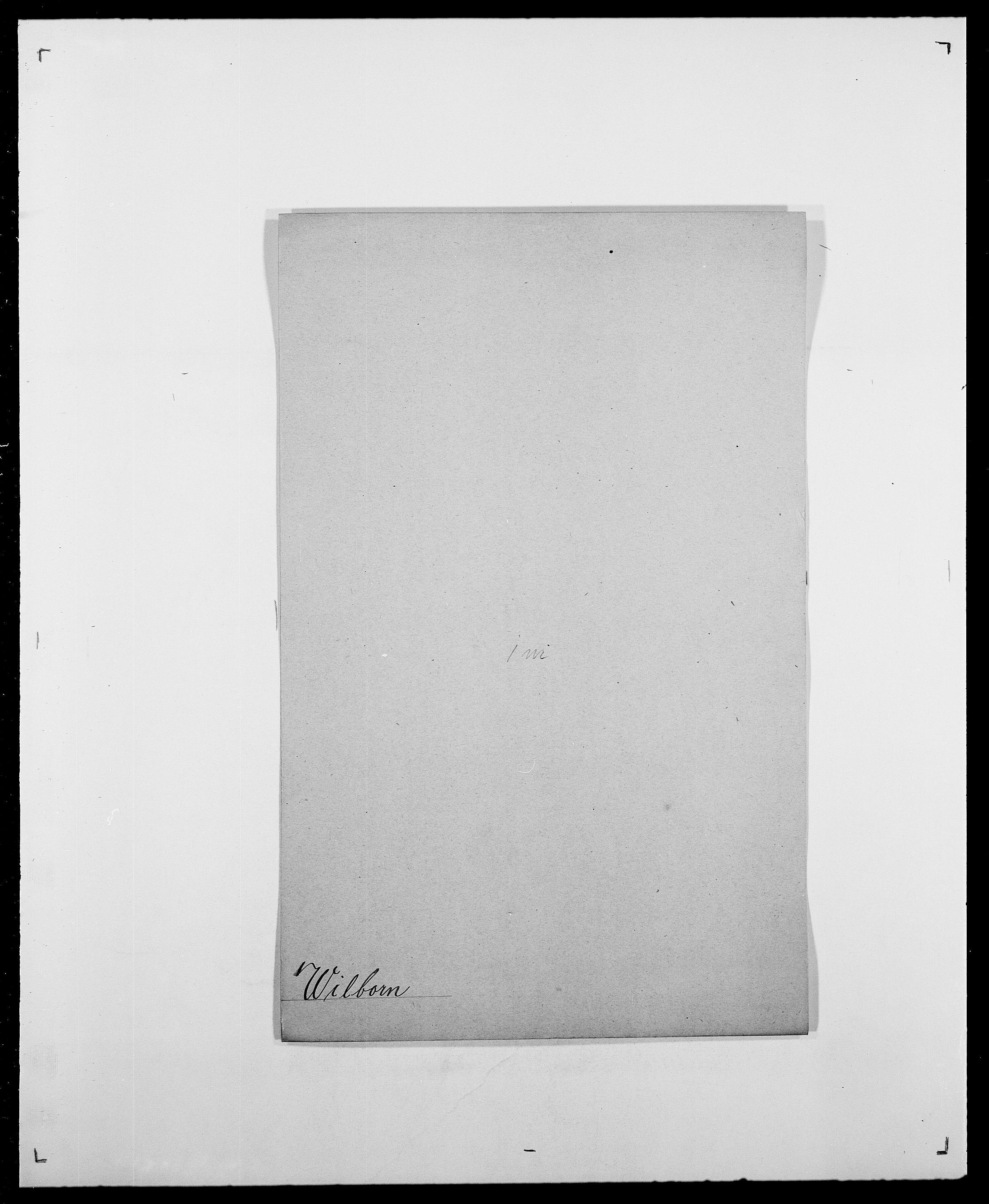 SAO, Delgobe, Charles Antoine - samling, D/Da/L0042: Vilain - Wulf, Wulff, se også Wolf, s. 9