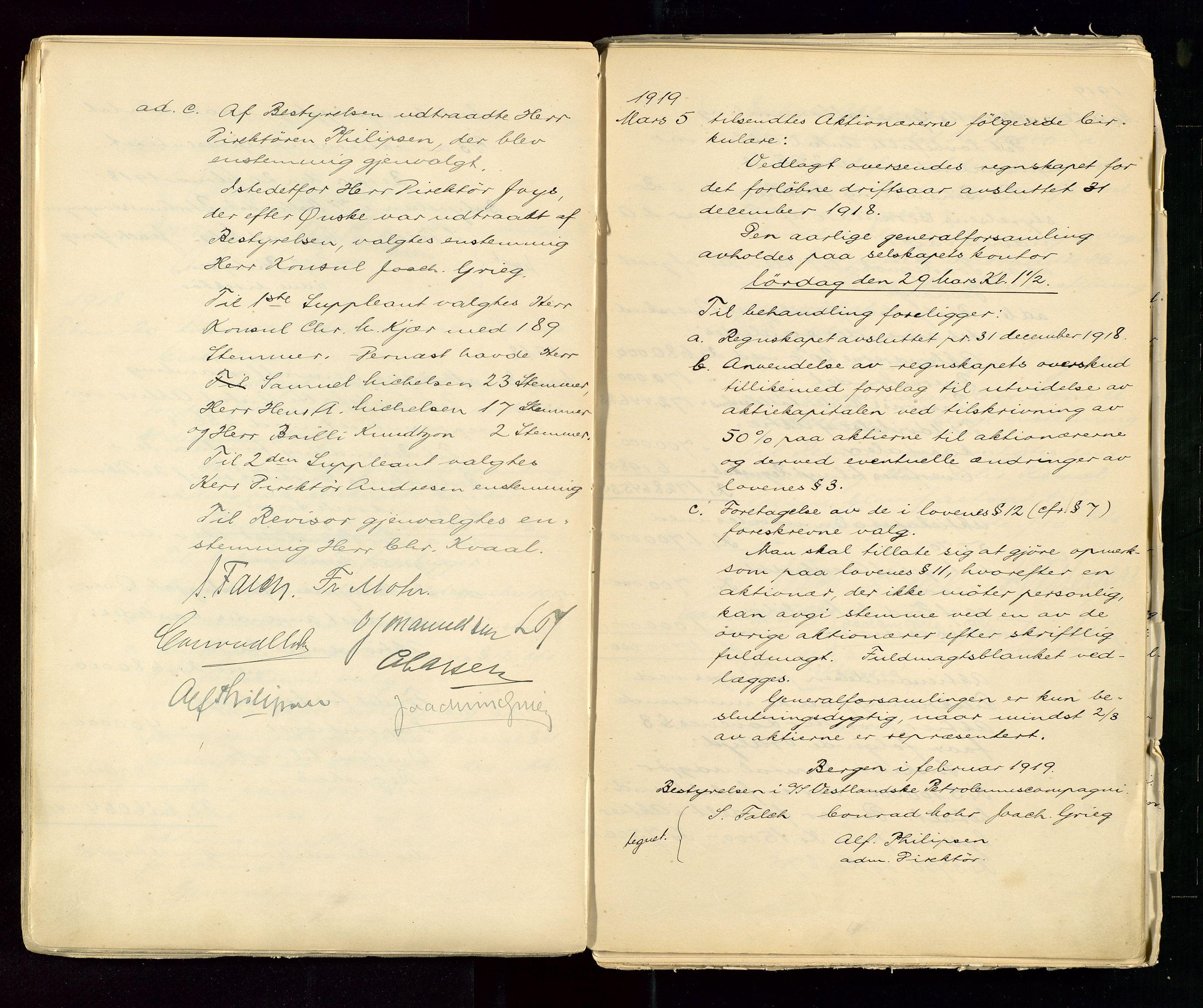 SAST, PA 1533 - A/S Vestlandske Petroleumscompani, A/Aa/L0001: Generalforsamlinger og styreprotokoller, 1890-1953, s. 59