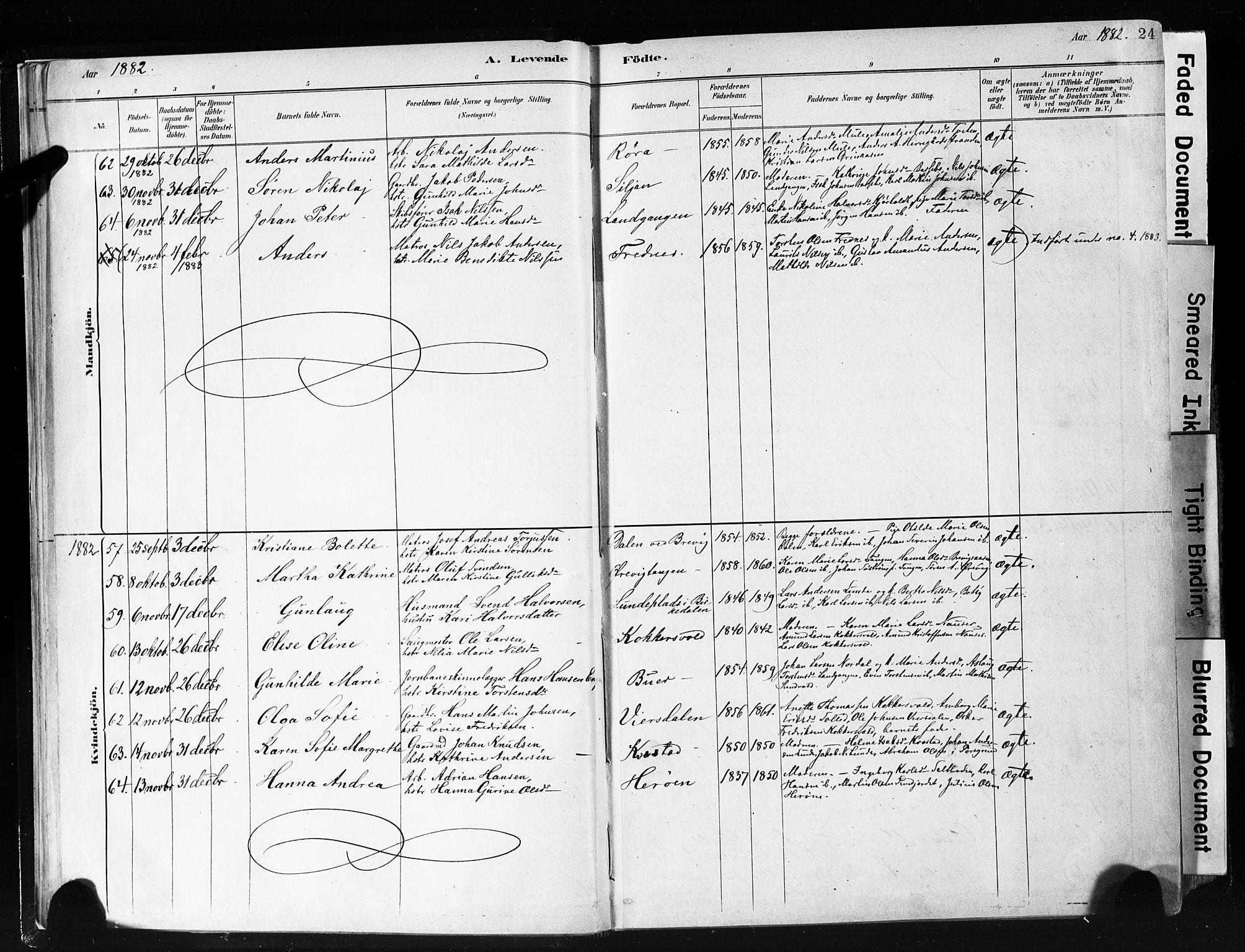 SAKO, Eidanger kirkebøker, F/Fa/L0012: Ministerialbok nr. 12, 1879-1900, s. 24