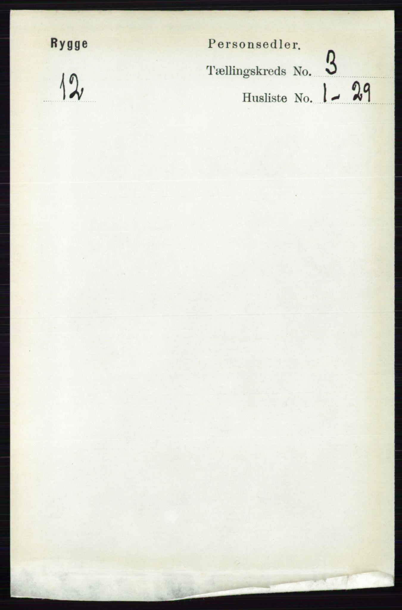RA, Folketelling 1891 for 0136 Rygge herred, 1891, s. 1667