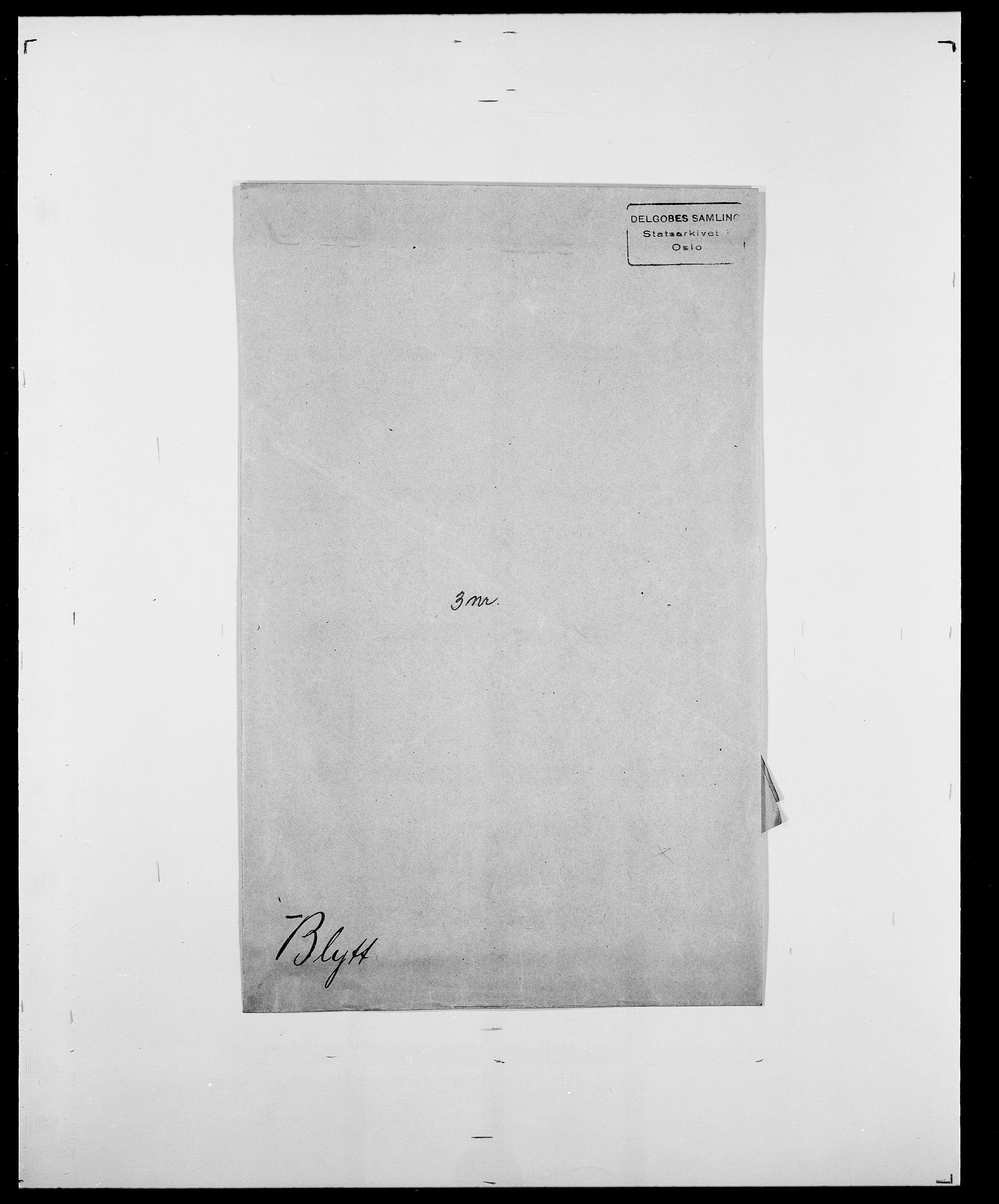 SAO, Delgobe, Charles Antoine - samling, D/Da/L0004: Bergendahl - Blære, s. 811