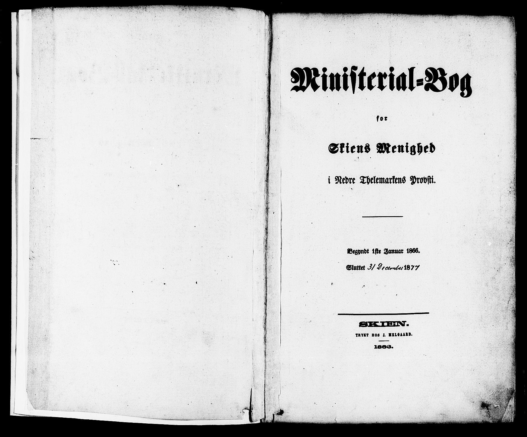 SAKO, Skien kirkebøker, F/Fa/L0008: Ministerialbok nr. 8, 1866-1877