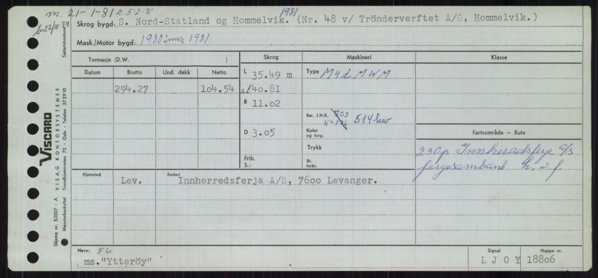 RA, Sjøfartsdirektoratet med forløpere, Skipsmålingen, H/Ha/L0006: Fartøy, Sver-Å, s. 709