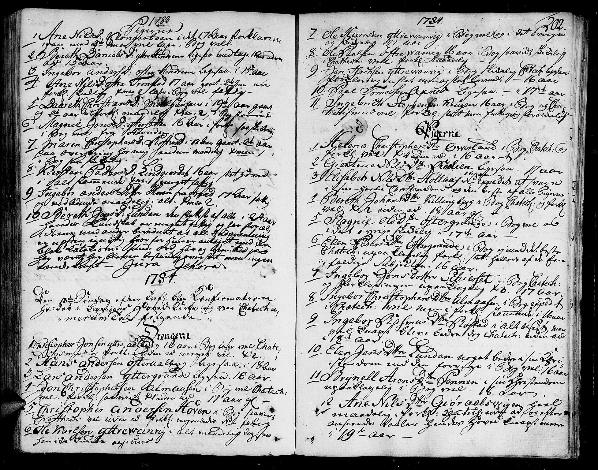 SAT, Ministerialprotokoller, klokkerbøker og fødselsregistre - Nord-Trøndelag, 701/L0004: Ministerialbok nr. 701A04, 1783-1816, s. 202