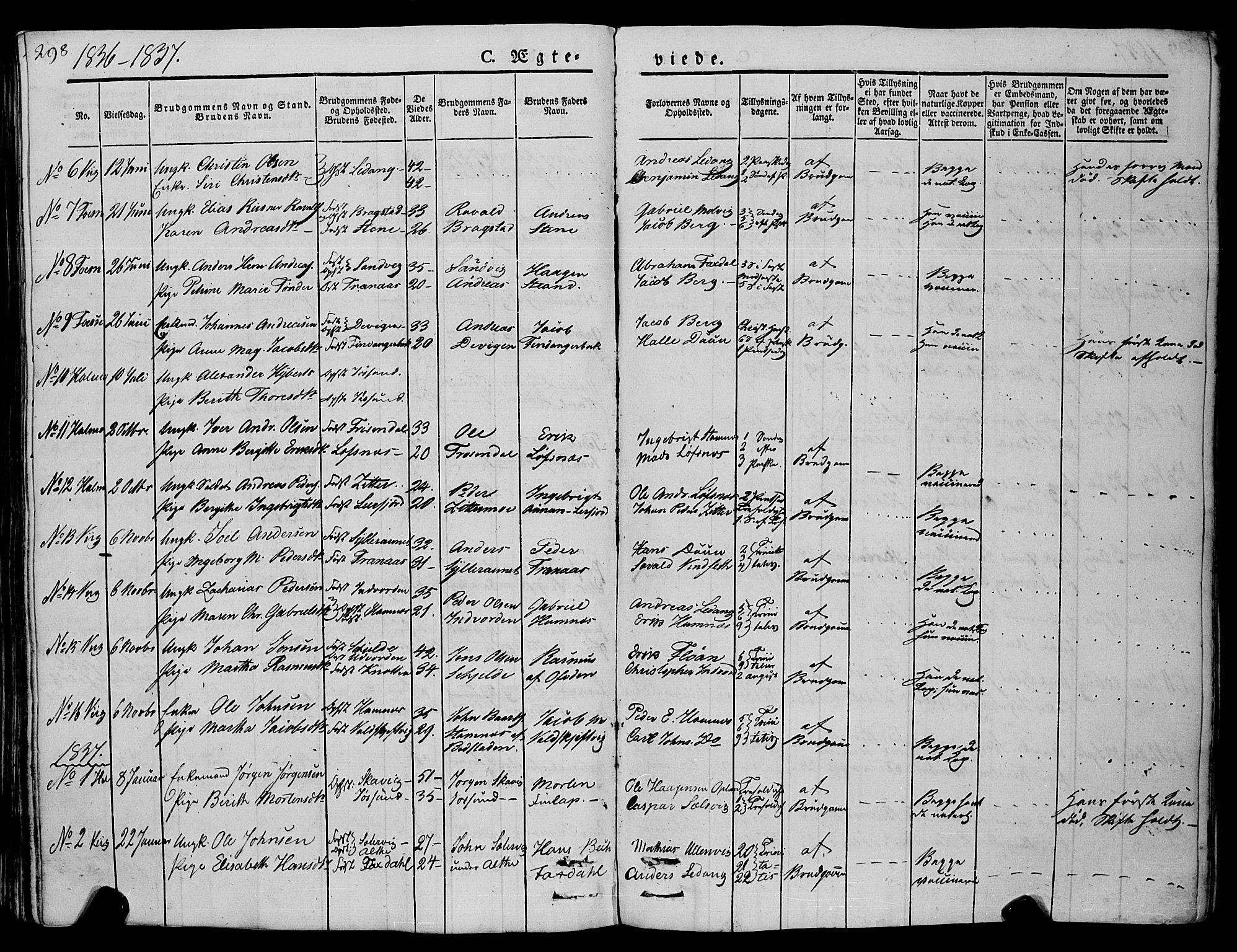 SAT, Ministerialprotokoller, klokkerbøker og fødselsregistre - Nord-Trøndelag, 773/L0614: Ministerialbok nr. 773A05, 1831-1856, s. 298