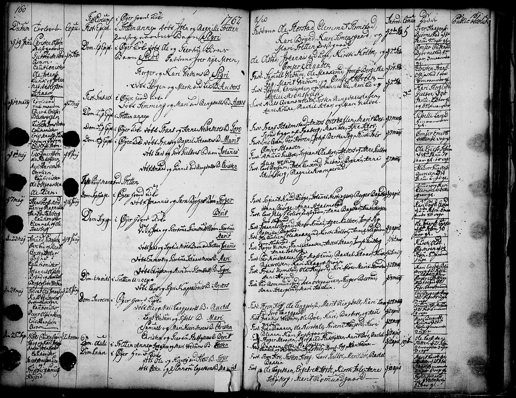 SAH, Øyer prestekontor, Ministerialbok nr. 2, 1733-1784, s. 160-161