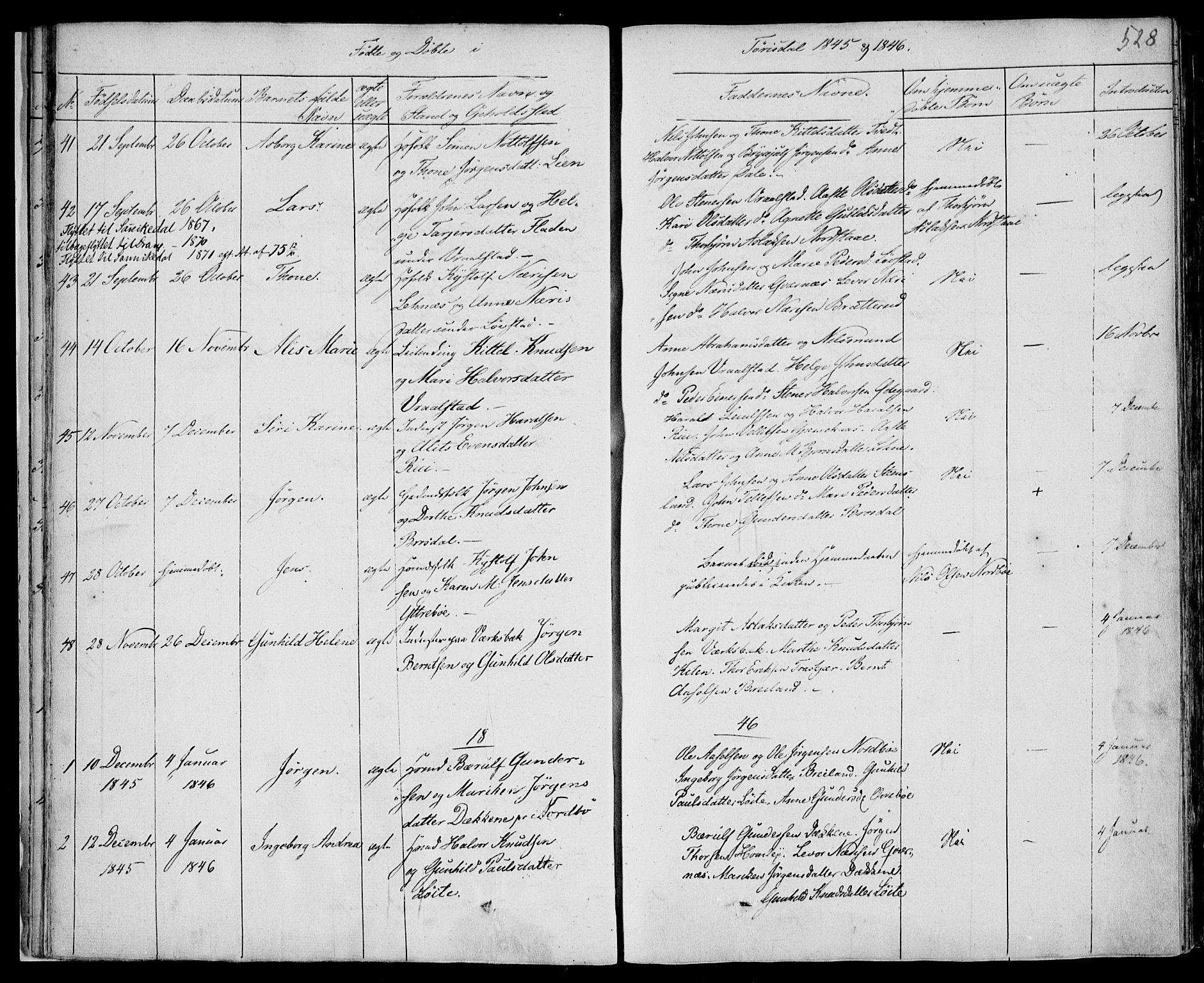SAKO, Drangedal kirkebøker, F/Fa/L0007b: Ministerialbok nr. 7b, 1837-1856, s. 528