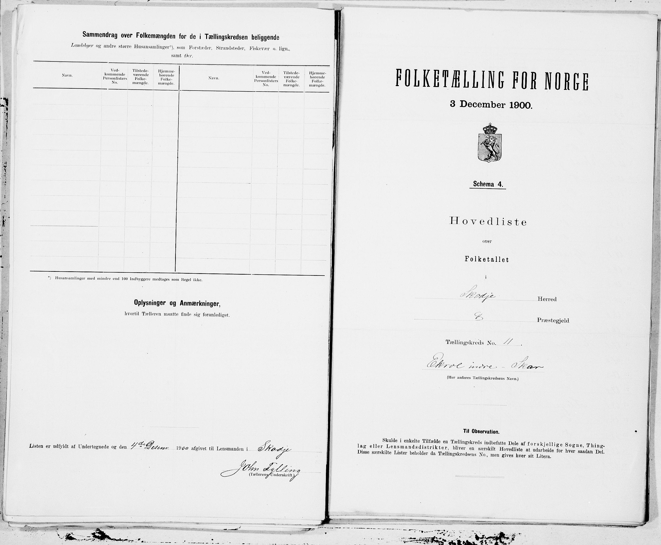 SAT, Folketelling 1900 for 1529 Skodje herred, 1900, s. 22
