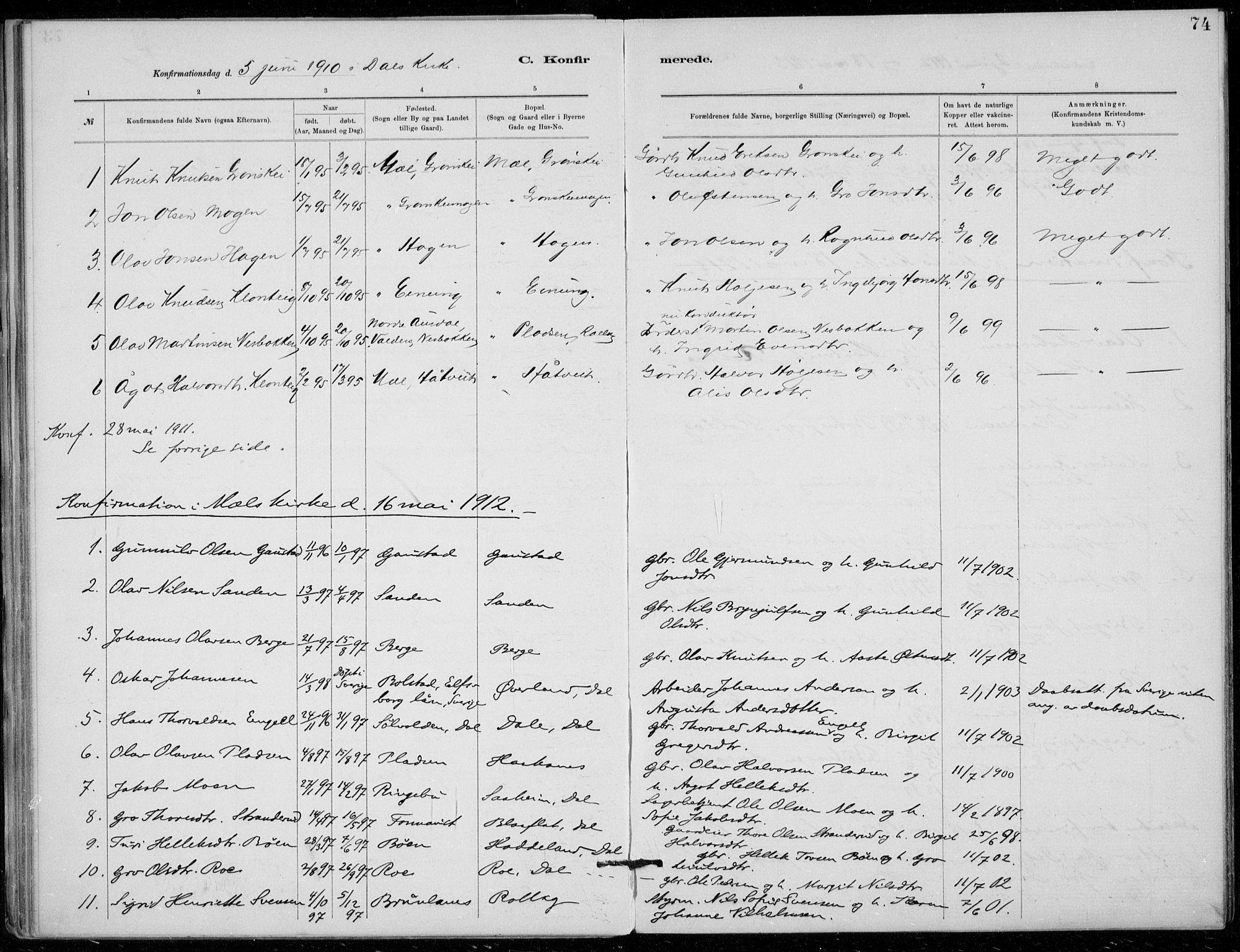 SAKO, Tinn kirkebøker, F/Fb/L0002: Ministerialbok nr. II 2, 1878-1917, s. 74