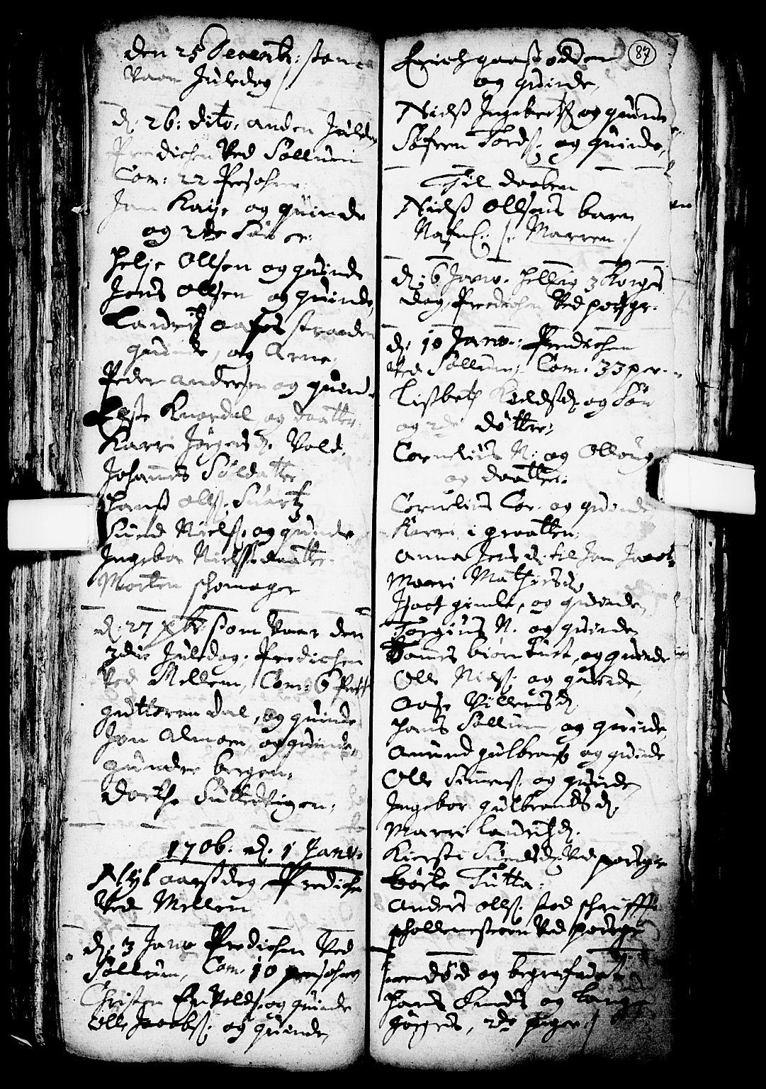 SAKO, Solum kirkebøker, F/Fa/L0001: Ministerialbok nr. I 1, 1701-1716, s. 87