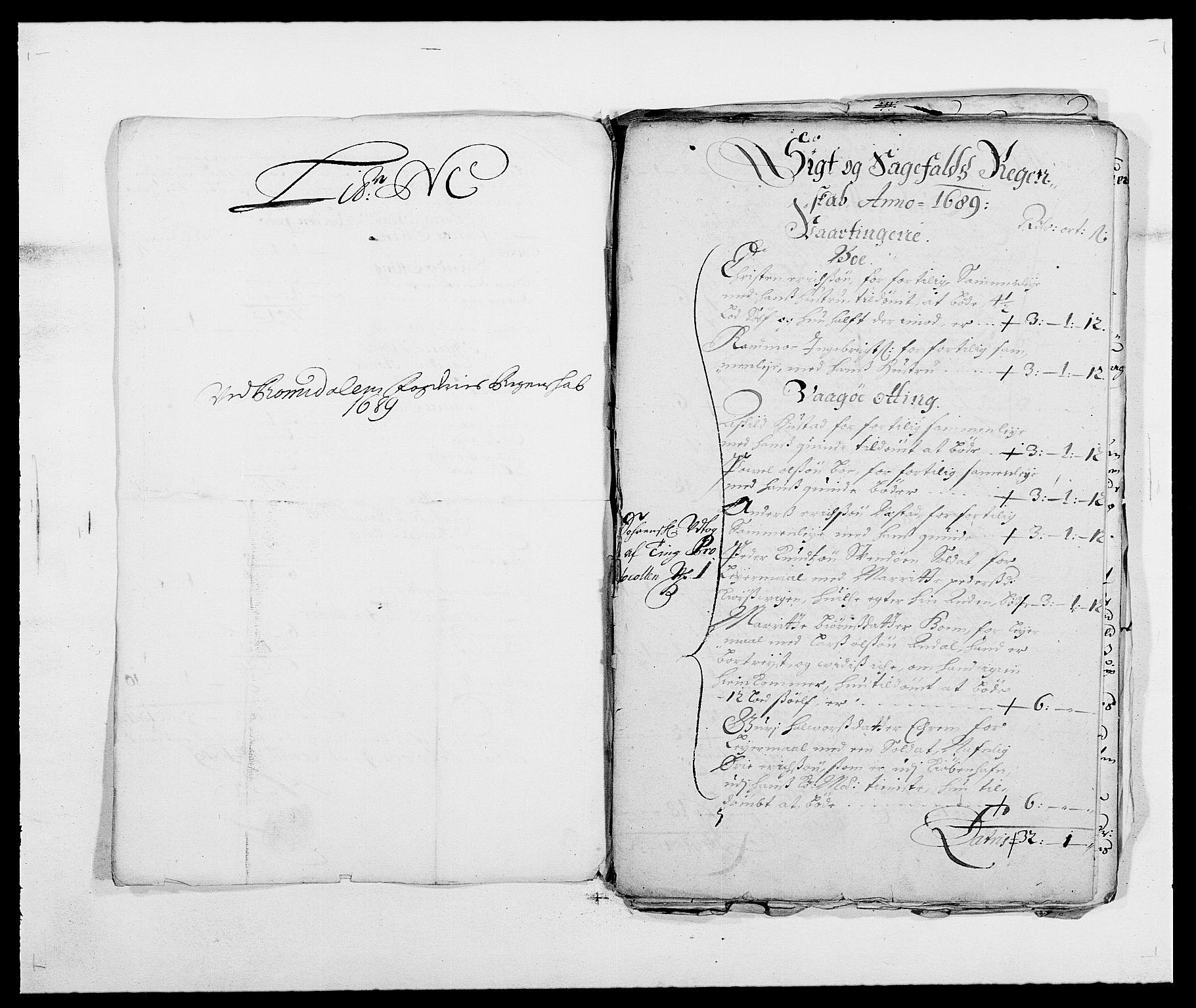 RA, Rentekammeret inntil 1814, Reviderte regnskaper, Fogderegnskap, R55/L3648: Fogderegnskap Romsdal, 1687-1689, s. 395