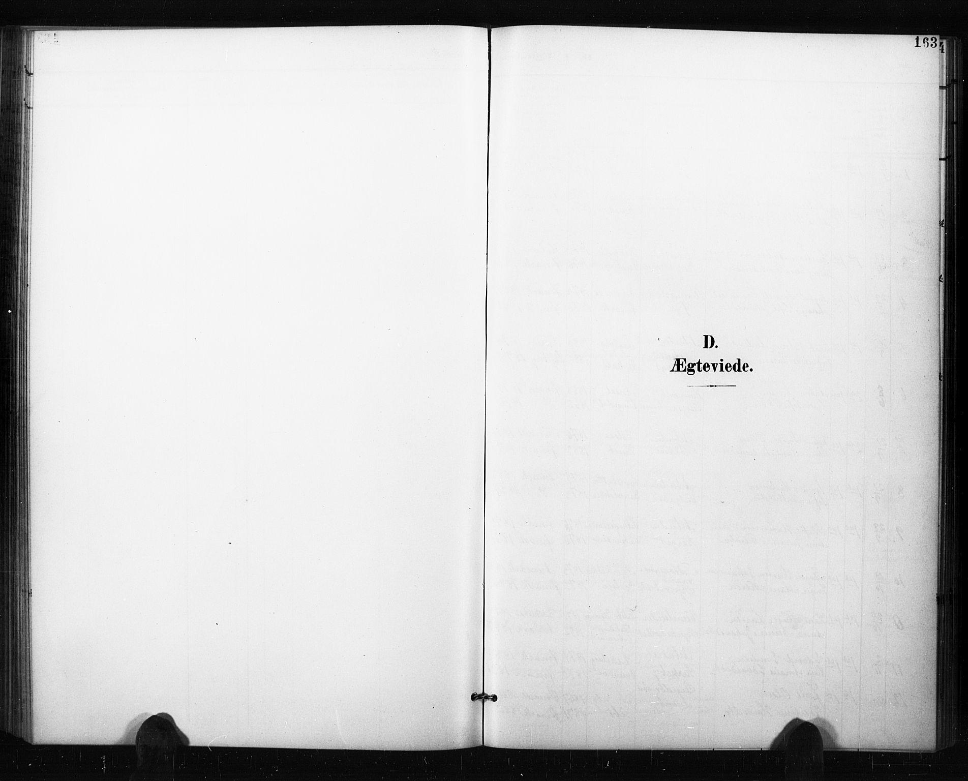 SAO, Aremark prestekontor Kirkebøker, G/Gb/L0001: Klokkerbok nr. II 1, 1901-1927, s. 163