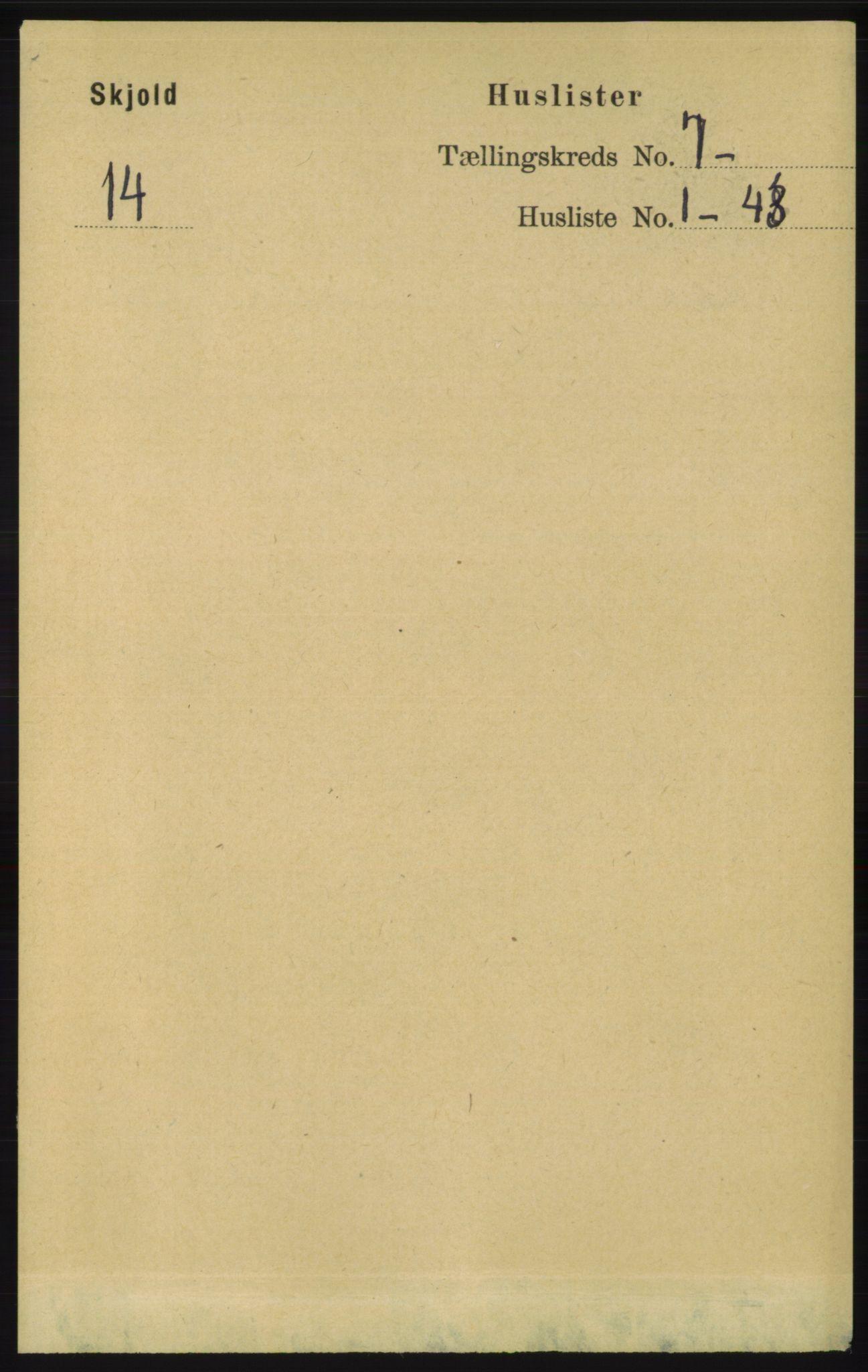 RA, Folketelling 1891 for 1154 Skjold herred, 1891, s. 1303