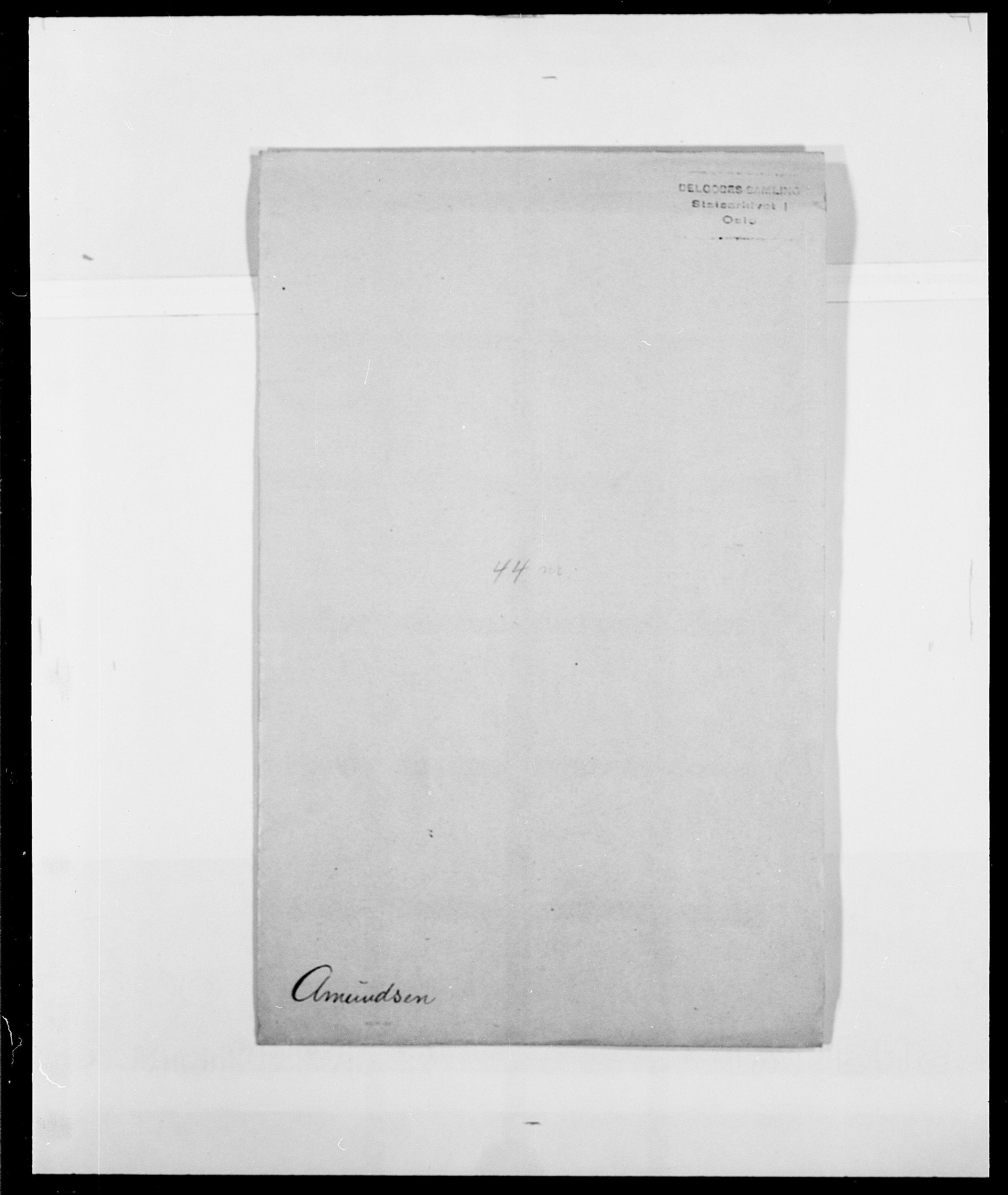 SAO, Delgobe, Charles Antoine - samling, D/Da/L0002: Anker, Ancher - Bauner, s. 1