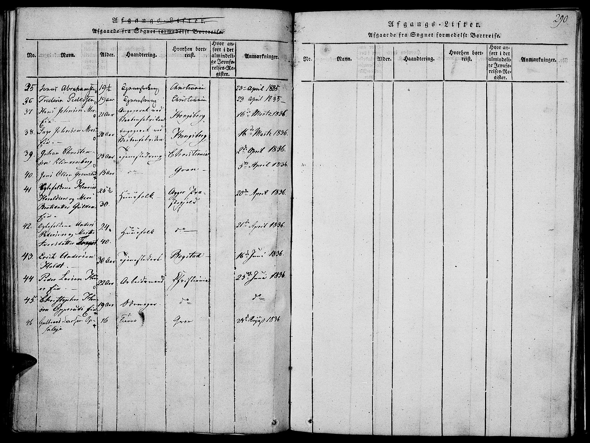 SAH, Jevnaker prestekontor, Ministerialbok nr. 5, 1815-1837, s. 290
