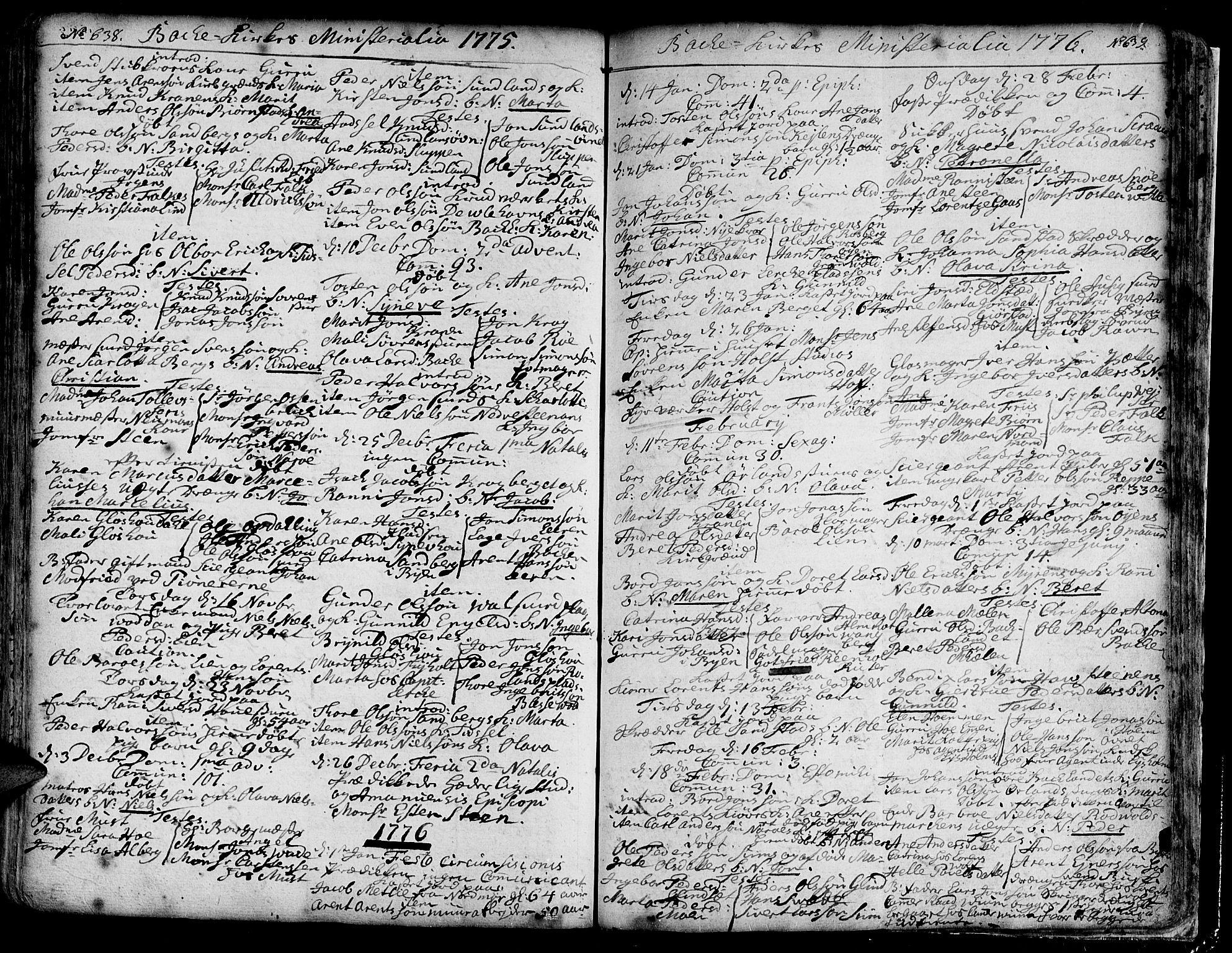 SAT, Ministerialprotokoller, klokkerbøker og fødselsregistre - Sør-Trøndelag, 606/L0276: Ministerialbok nr. 606A01 /2, 1727-1779, s. 638-639