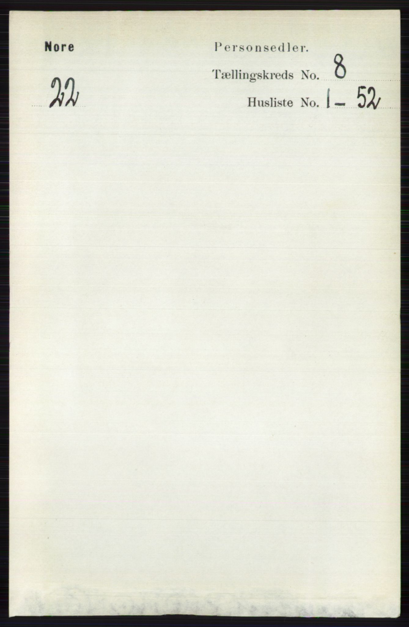 RA, Folketelling 1891 for 0633 Nore herred, 1891, s. 2844