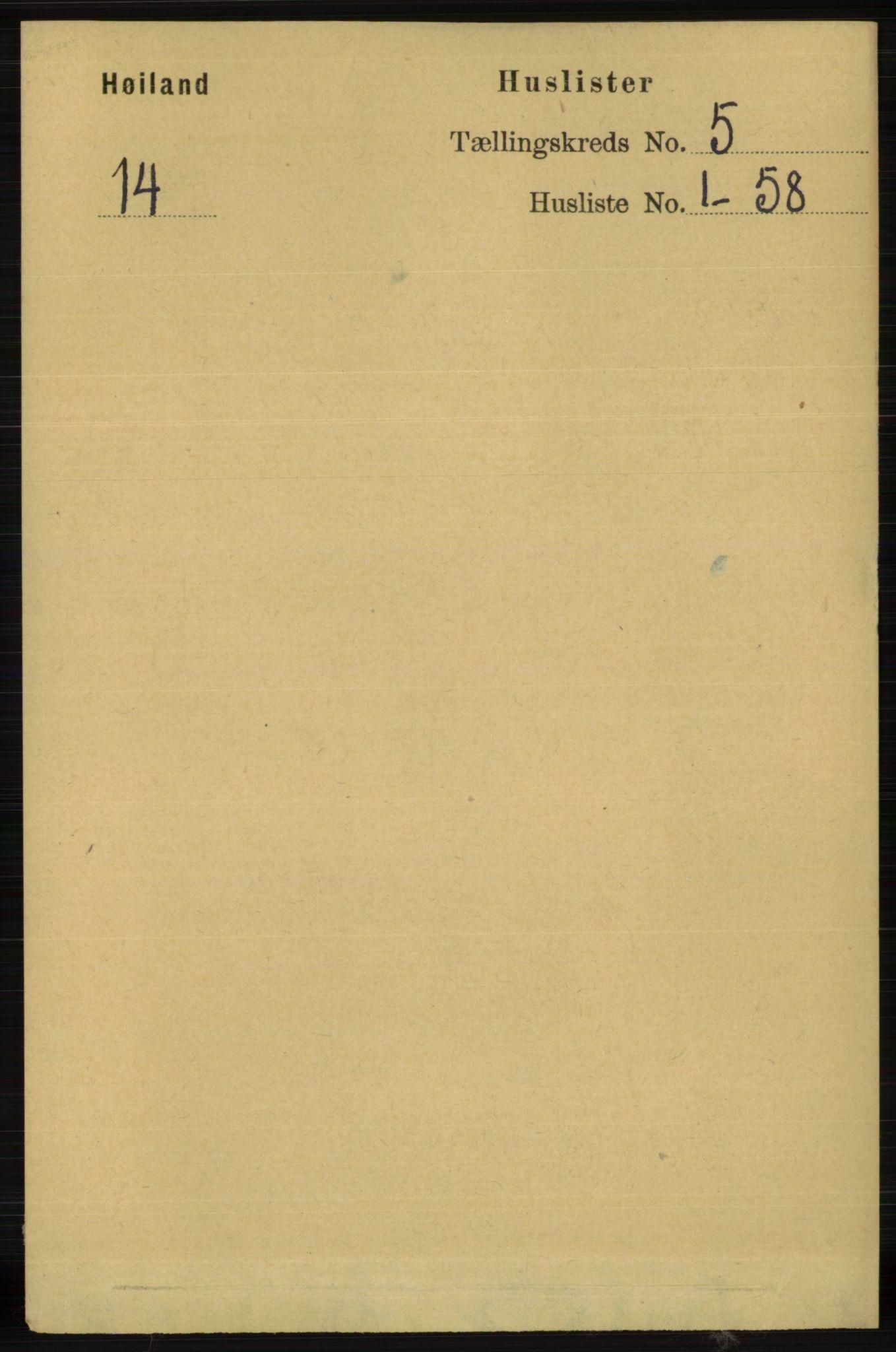 RA, Folketelling 1891 for 1123 Høyland herred, 1891, s. 1465