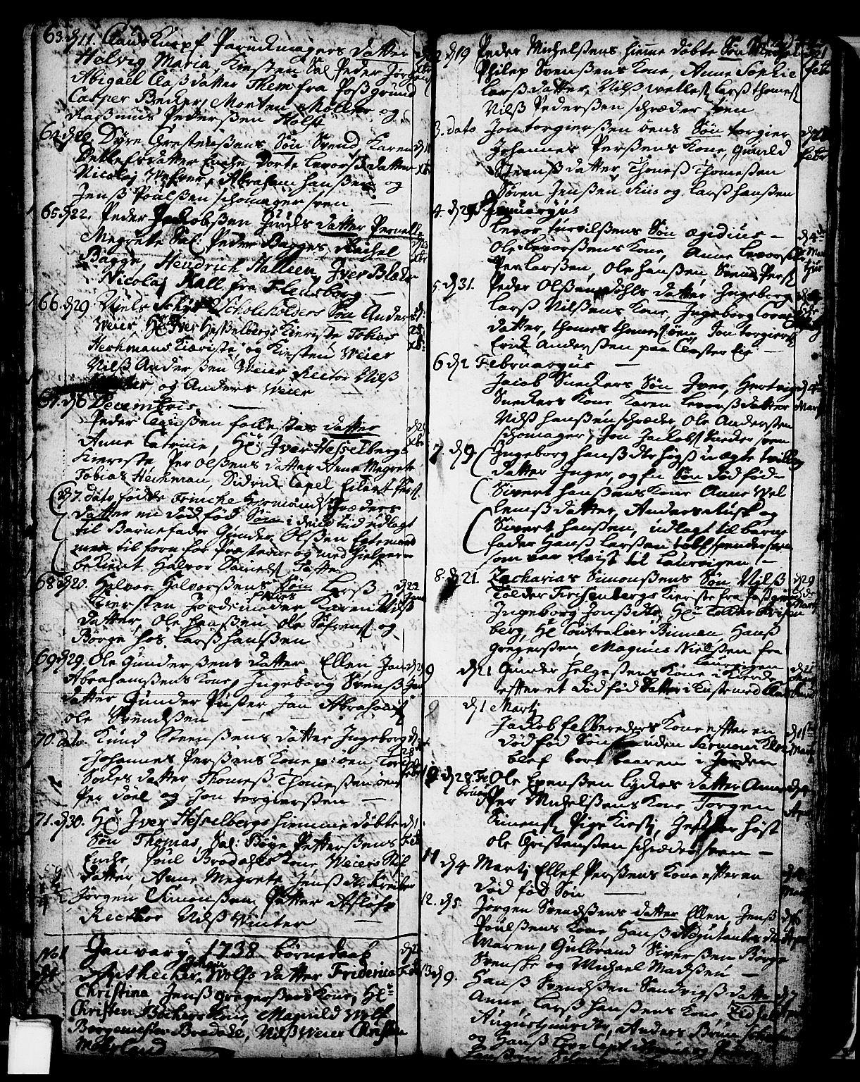 SAKO, Skien kirkebøker, F/Fa/L0002: Ministerialbok nr. 2, 1716-1757, s. 122