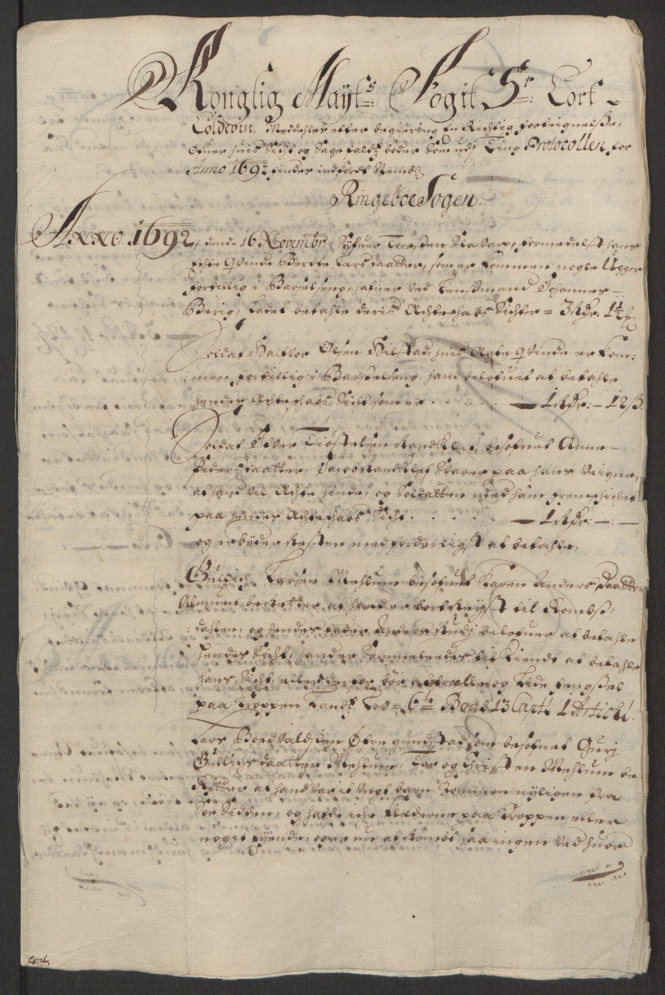 RA, Rentekammeret inntil 1814, Reviderte regnskaper, Fogderegnskap, R17/L1166: Fogderegnskap Gudbrandsdal, 1690-1692, s. 154