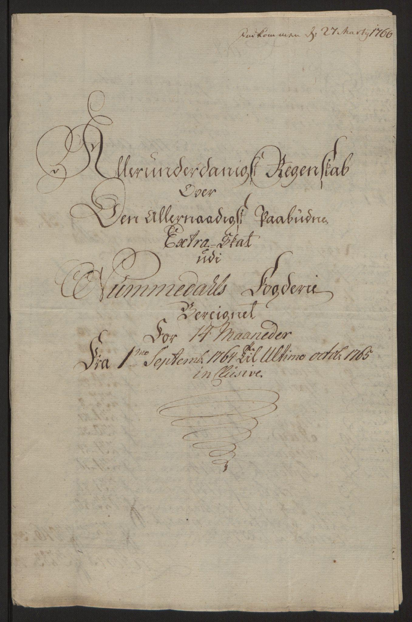 RA, Rentekammeret inntil 1814, Reviderte regnskaper, Fogderegnskap, R64/L4502: Ekstraskatten Namdal, 1762-1772, s. 193