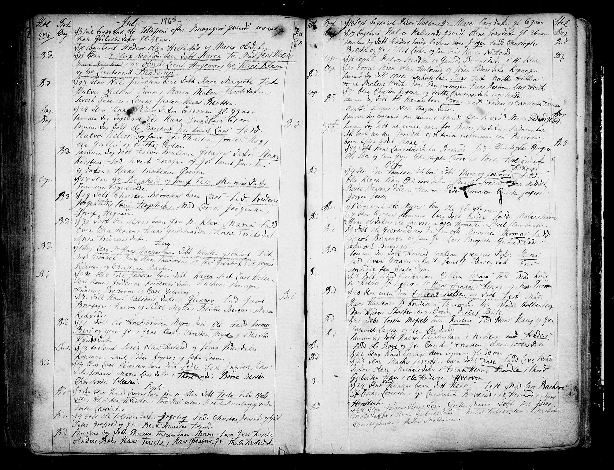 SAKO, Botne kirkebøker, F/Fa/L0001a: Ministerialbok nr. I 1A, 1707-1778, s. 286-287
