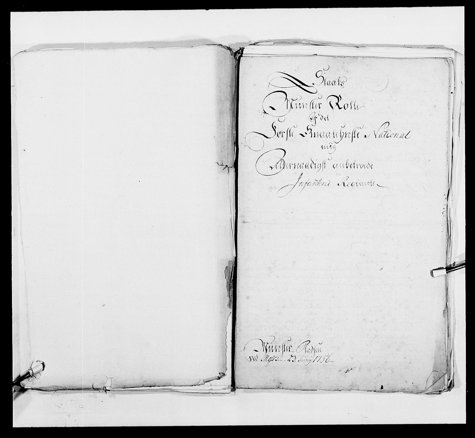 RA, Kommanderende general (KG I) med Det norske krigsdirektorium, E/Ea/L0495: 1. Smålenske regiment, 1732-1763, s. 596