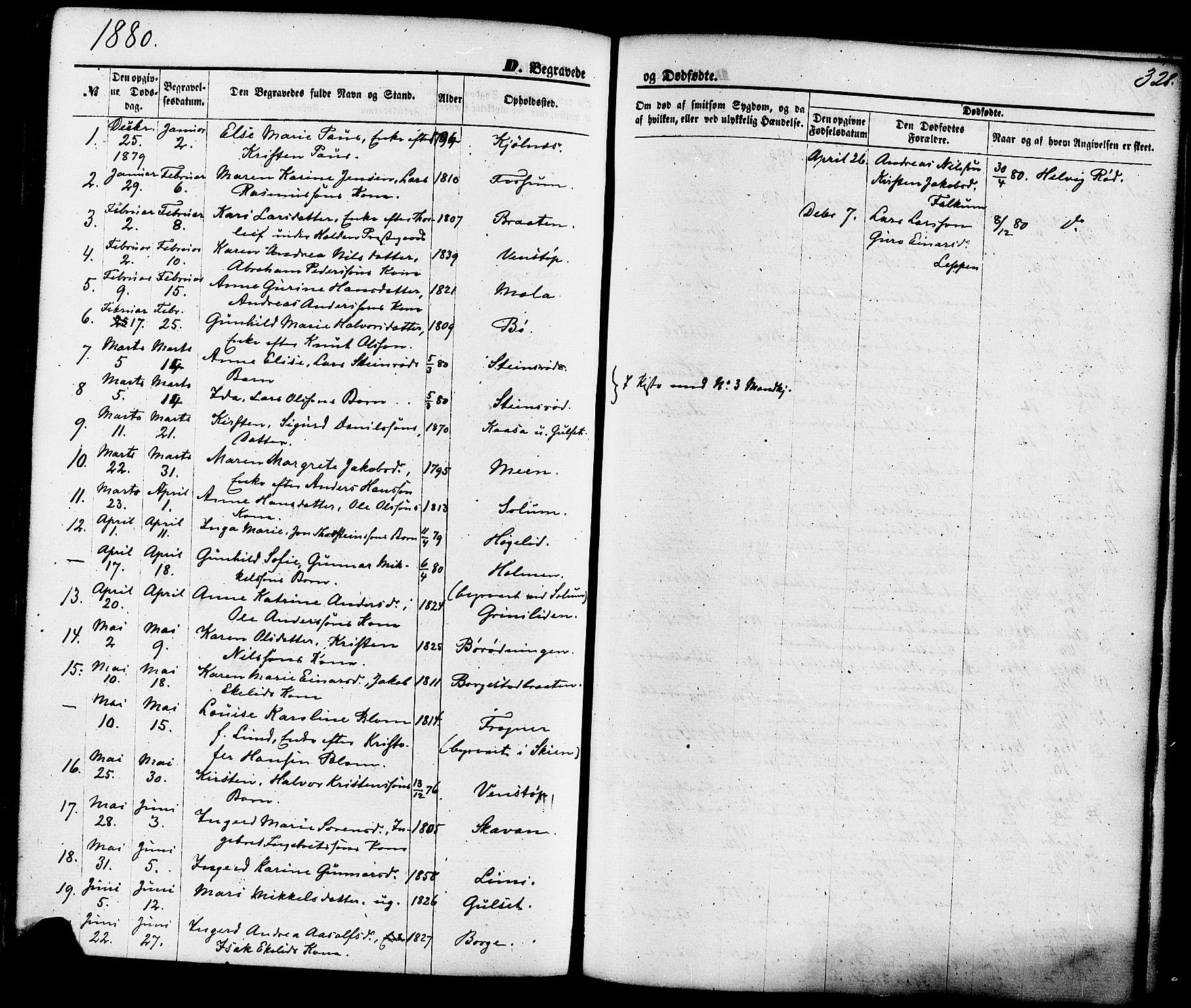SAKO, Gjerpen kirkebøker, F/Fa/L0009: Ministerialbok nr. 9, 1872-1885, s. 328