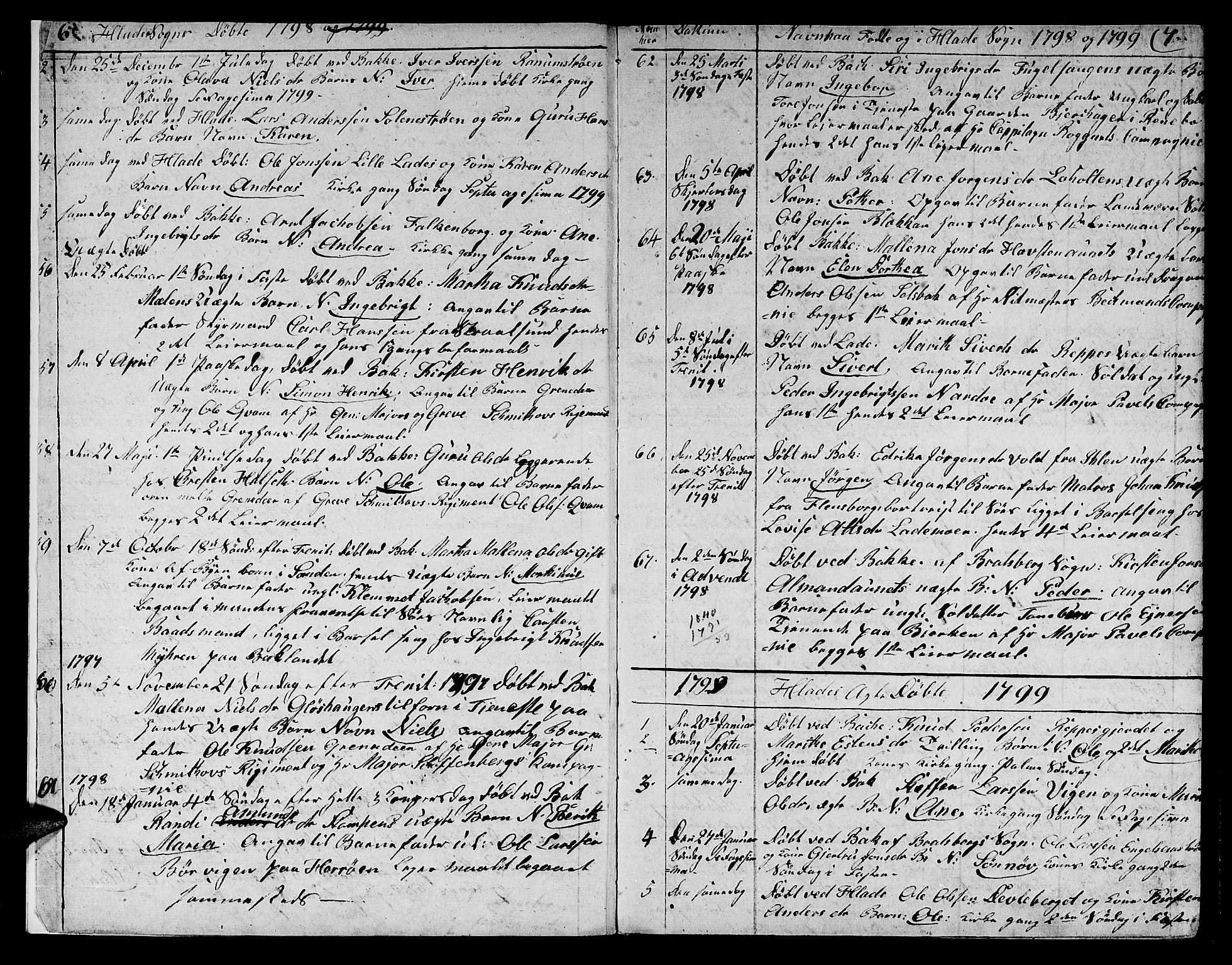 SAT, Ministerialprotokoller, klokkerbøker og fødselsregistre - Sør-Trøndelag, 606/L0306: Klokkerbok nr. 606C02, 1797-1829, s. 6-7