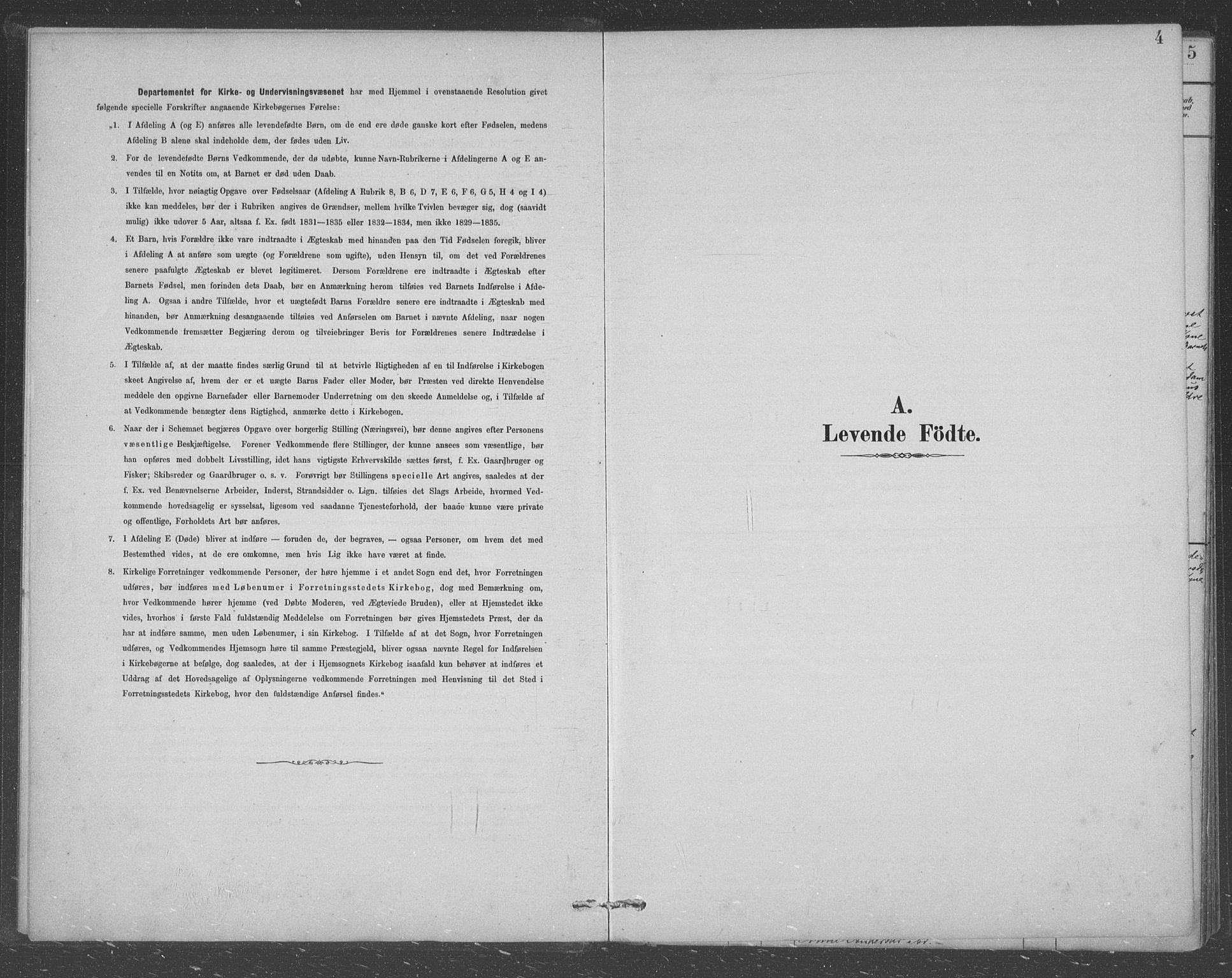 SAST, Egersund sokneprestkontor, Klokkerbok nr. B 8, 1882-1892, s. 4