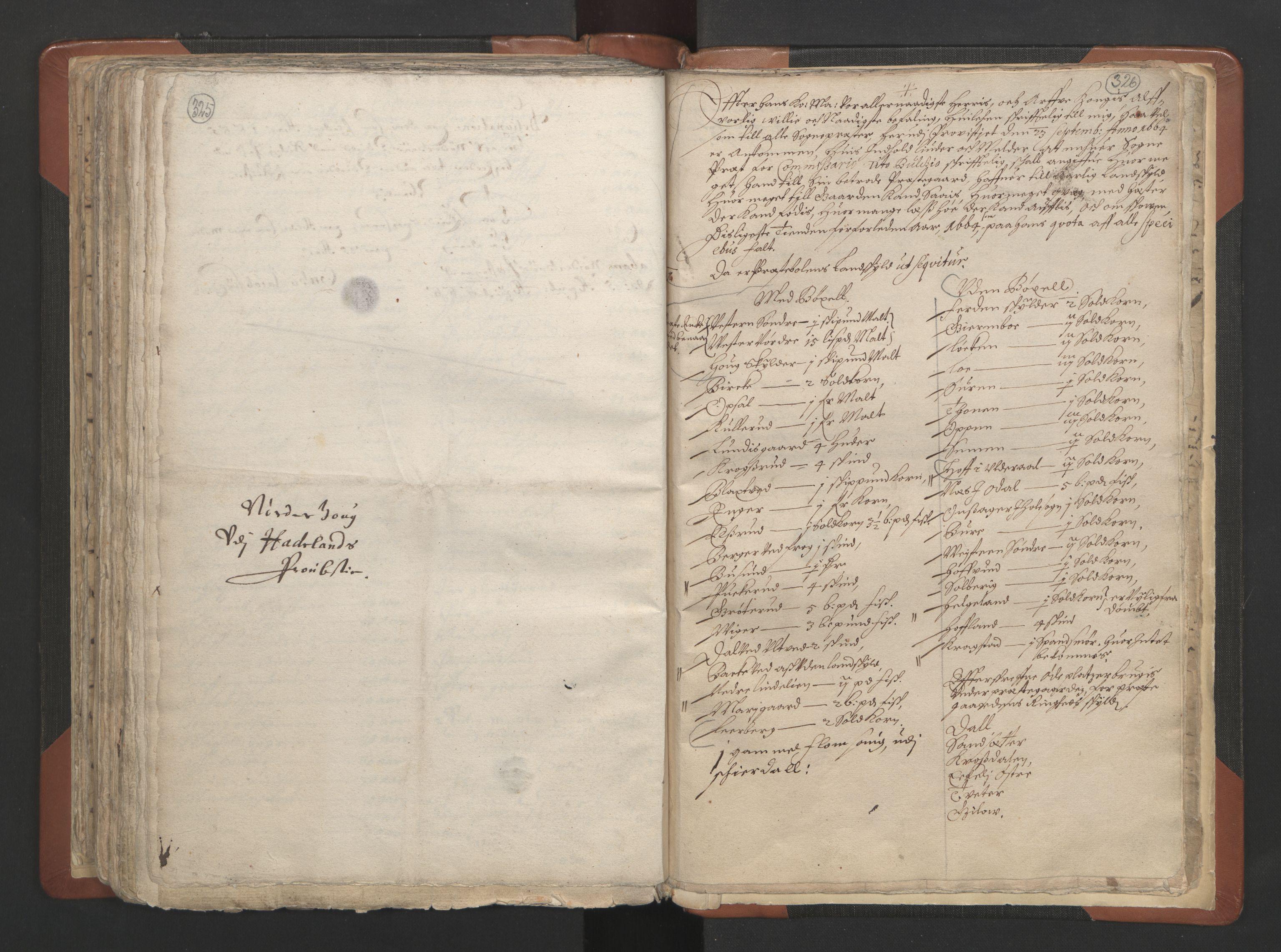 RA, Sogneprestenes manntall 1664-1666, nr. 7: Hadeland prosti, 1664-1666, s. 325-326