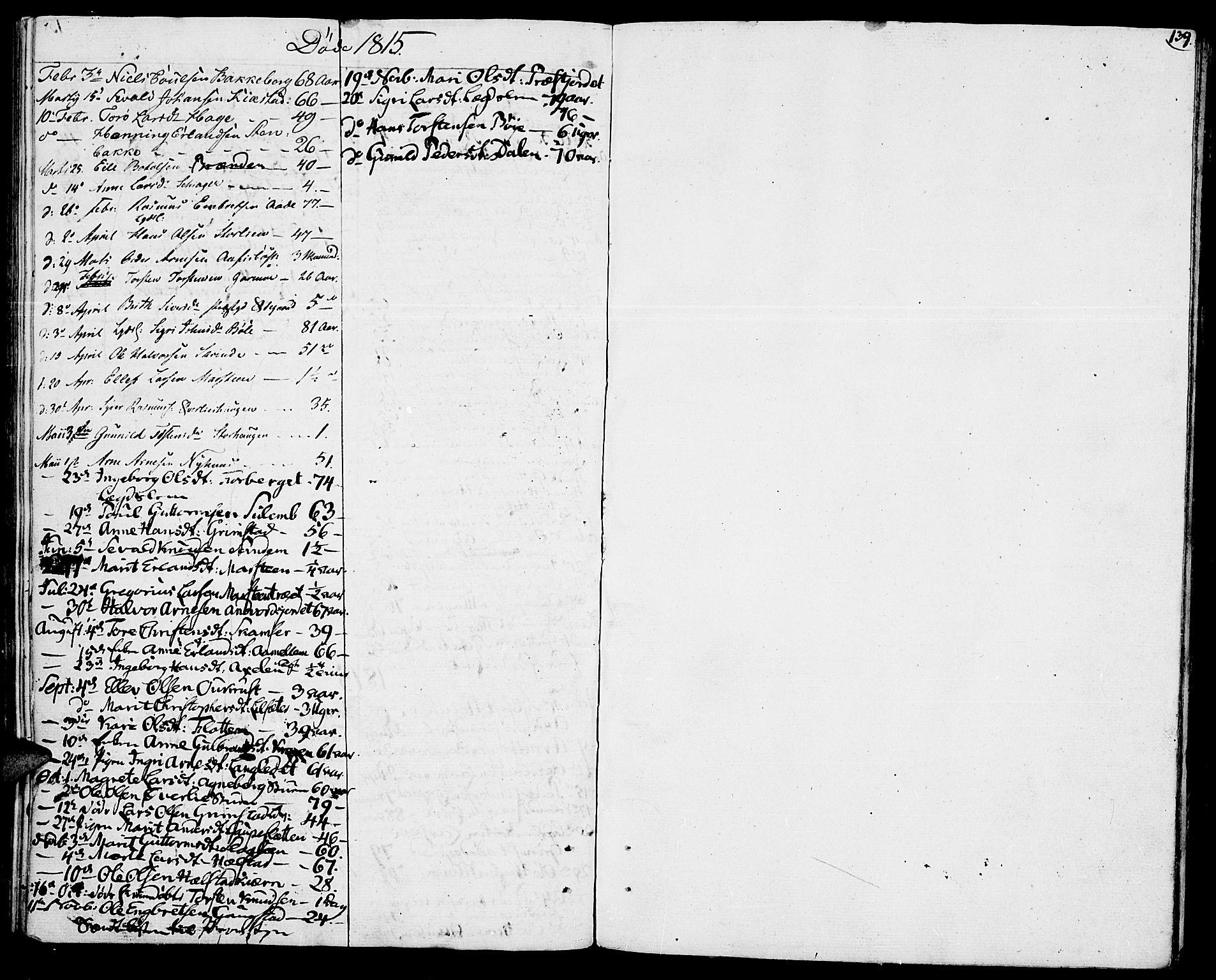 SAH, Lom prestekontor, K/L0003: Ministerialbok nr. 3, 1801-1825, s. 139