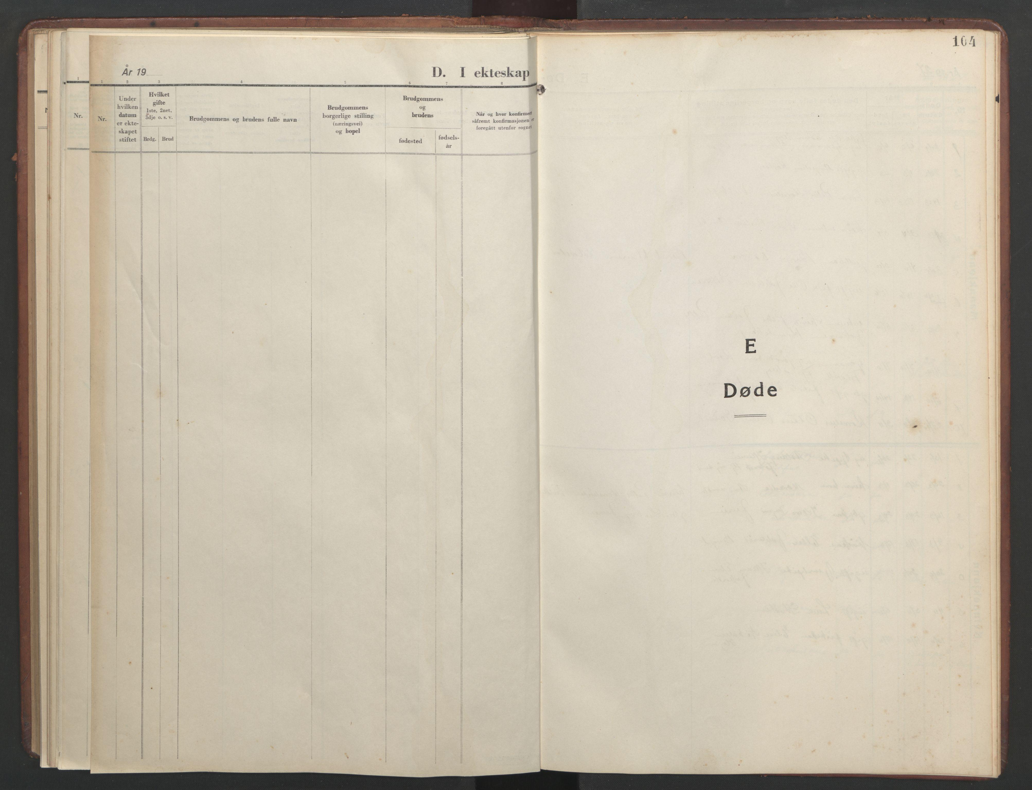 SAT, Ministerialprotokoller, klokkerbøker og fødselsregistre - Sør-Trøndelag, 634/L0544: Klokkerbok nr. 634C06, 1927-1948, s. 104