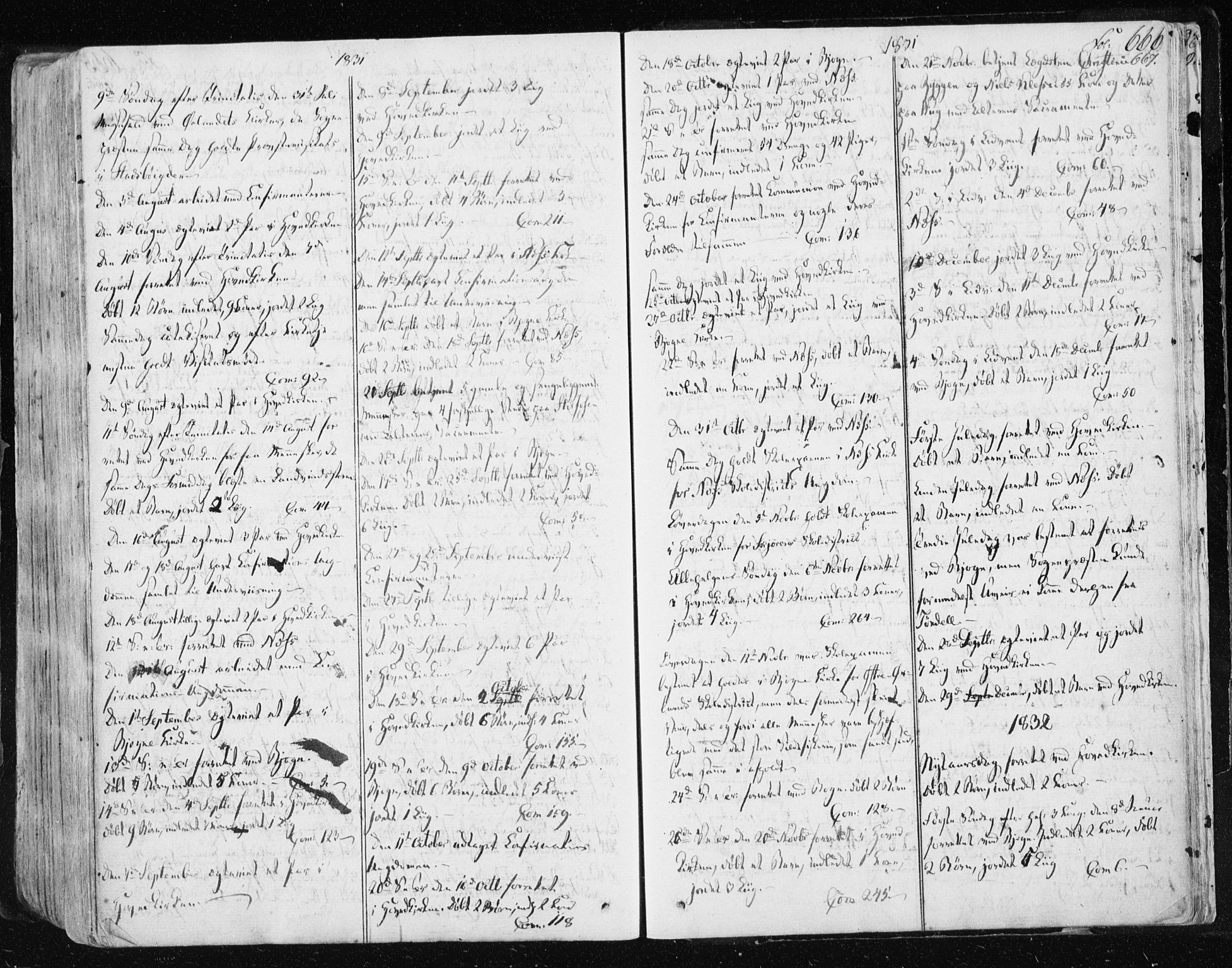SAT, Ministerialprotokoller, klokkerbøker og fødselsregistre - Sør-Trøndelag, 659/L0735: Ministerialbok nr. 659A05, 1826-1841, s. 666