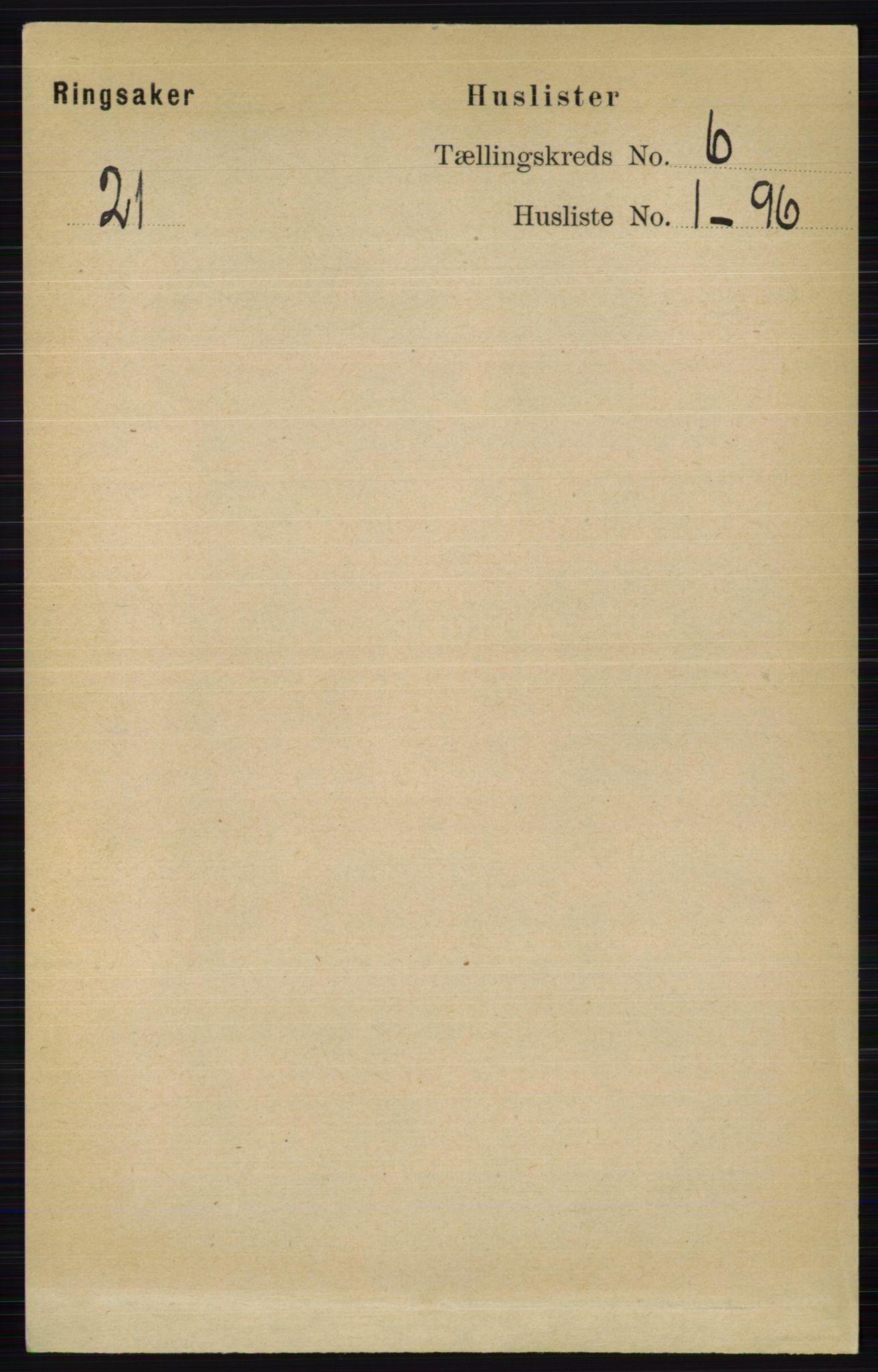 RA, Folketelling 1891 for 0412 Ringsaker herred, 1891, s. 3085