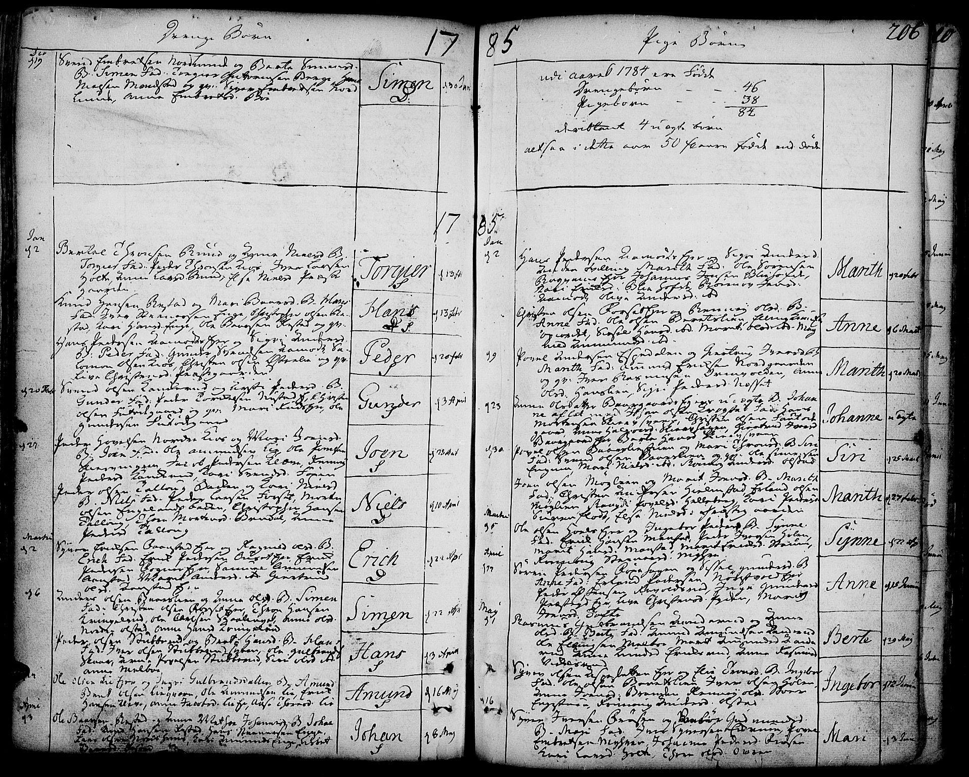 SAH, Gausdal prestekontor, Ministerialbok nr. 3, 1758-1809, s. 206