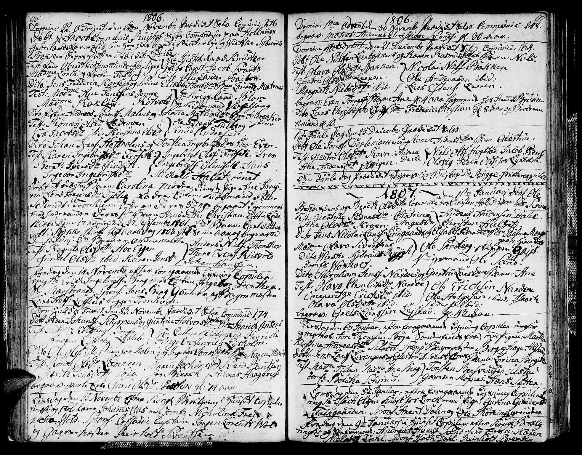 SAT, Ministerialprotokoller, klokkerbøker og fødselsregistre - Sør-Trøndelag, 604/L0181: Ministerialbok nr. 604A02, 1798-1817, s. 96-97