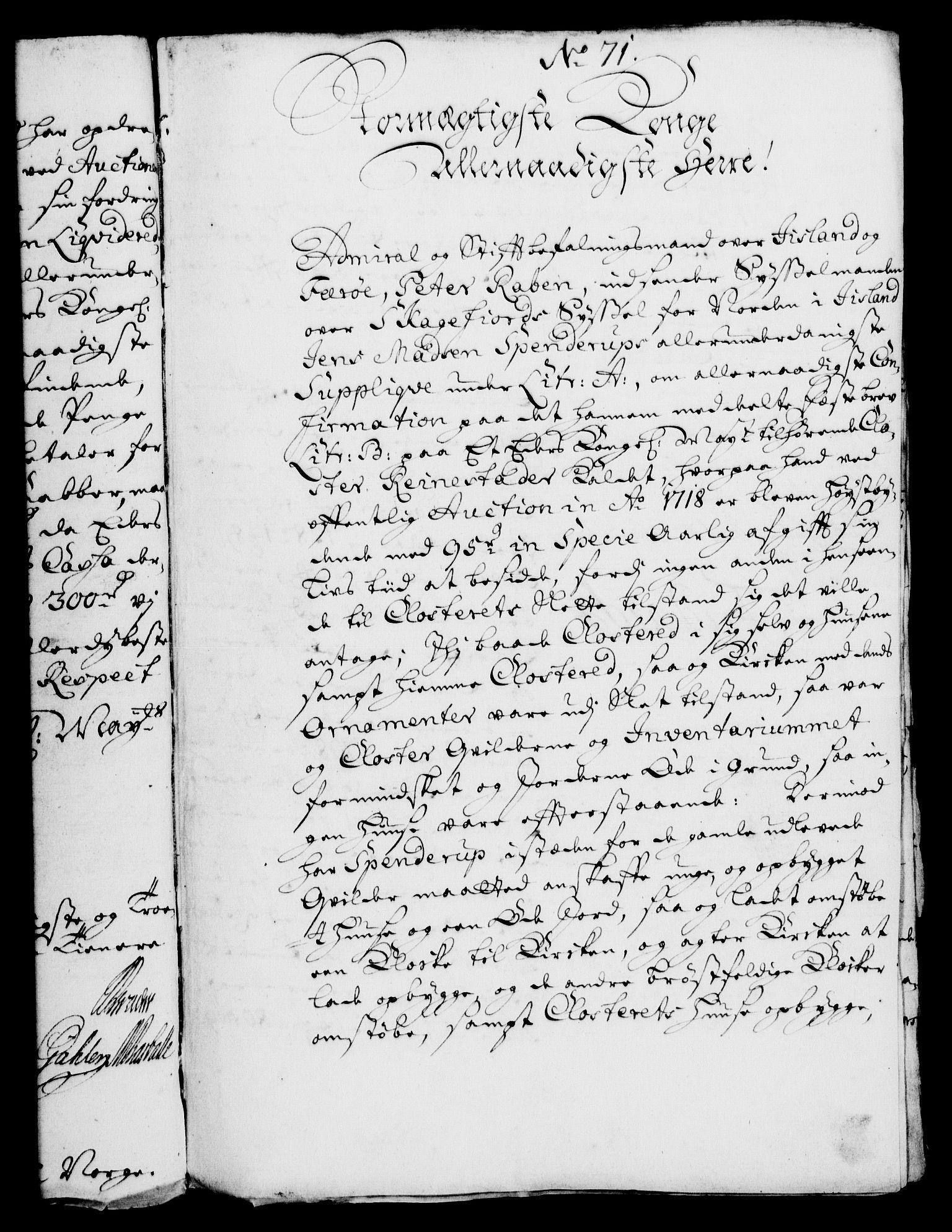 RA, Rentekammeret, Kammerkanselliet, G/Gf/Gfa/L0006: Norsk relasjons- og resolusjonsprotokoll (merket RK 52.6), 1723, s. 503