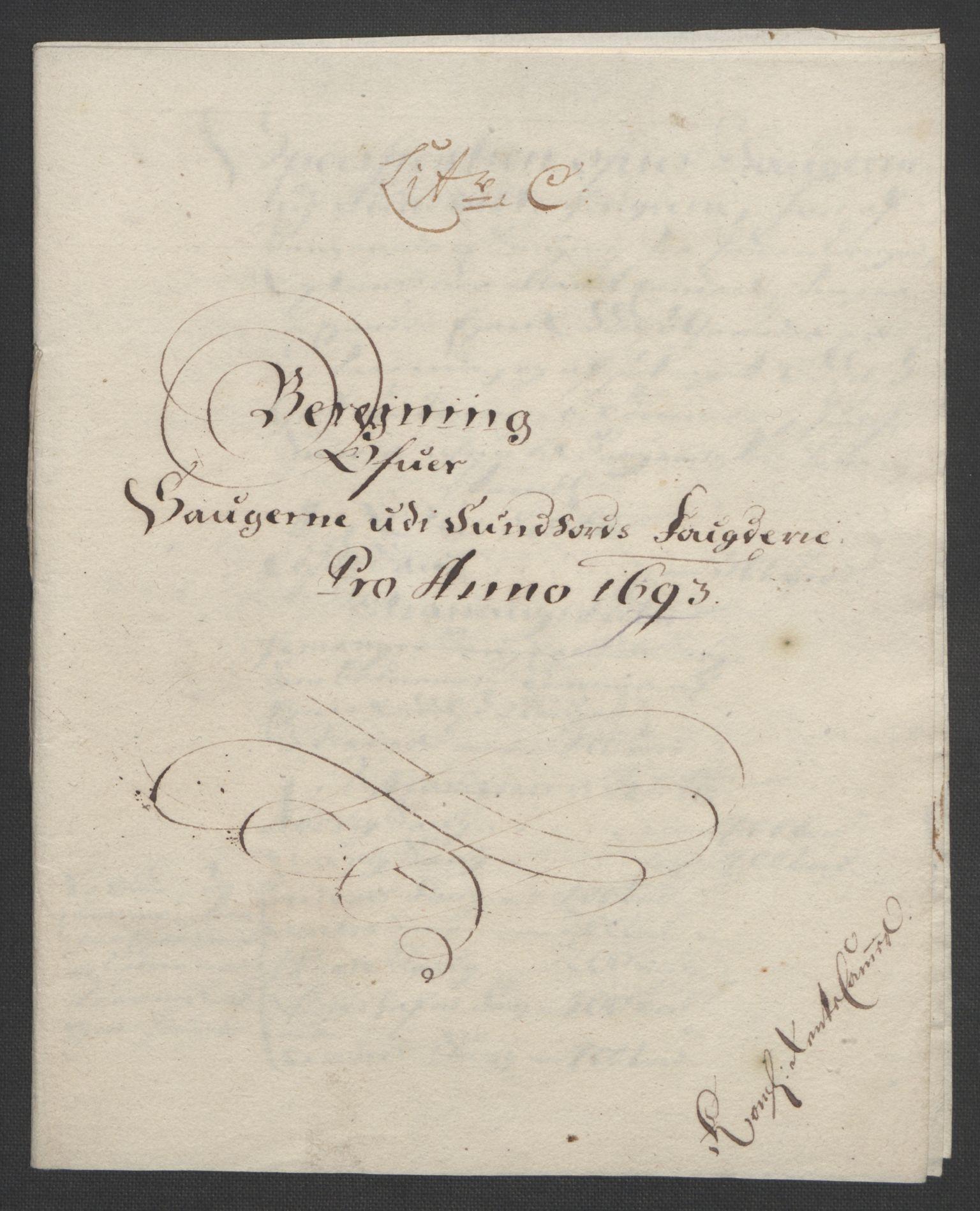 RA, Rentekammeret inntil 1814, Reviderte regnskaper, Fogderegnskap, R48/L2974: Fogderegnskap Sunnhordland og Hardanger, 1693, s. 71