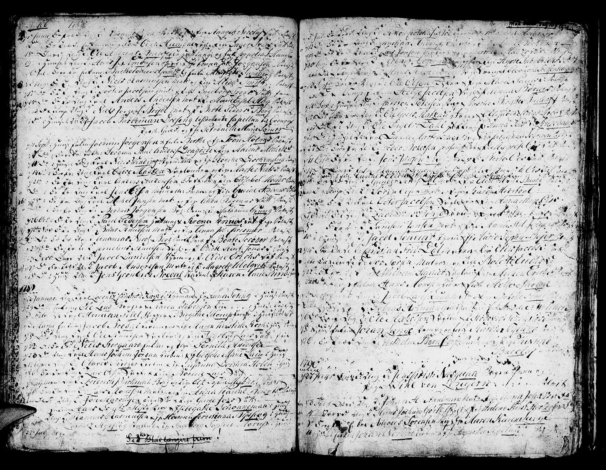 SAB, Domkirken sokneprestembete, H/Haa/L0007: Ministerialbok nr. A 7, 1725-1826, s. 106-107